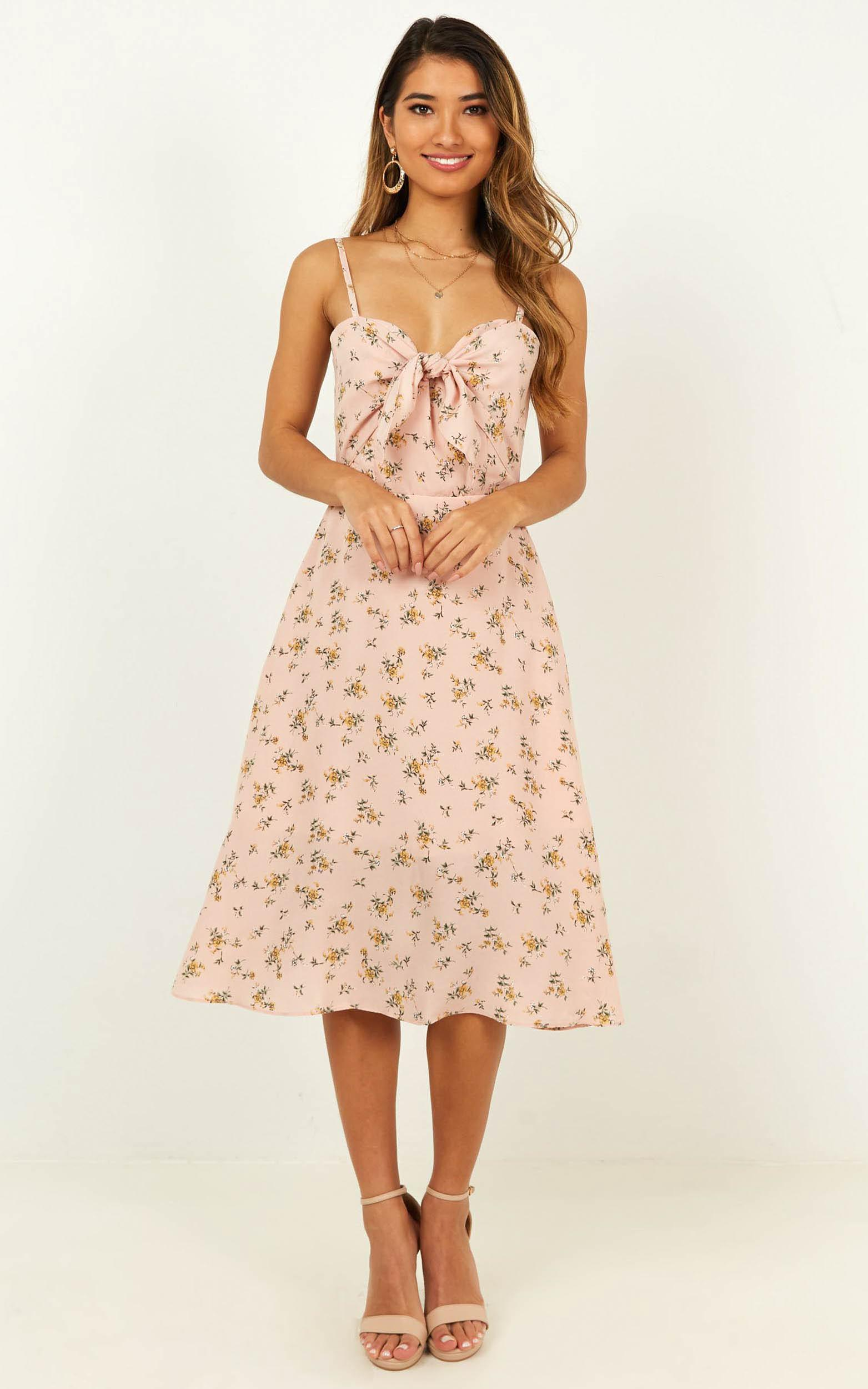 Im Grateful Midi Dress in blush floral - 20 (XXXXL), Blush, hi-res image number null