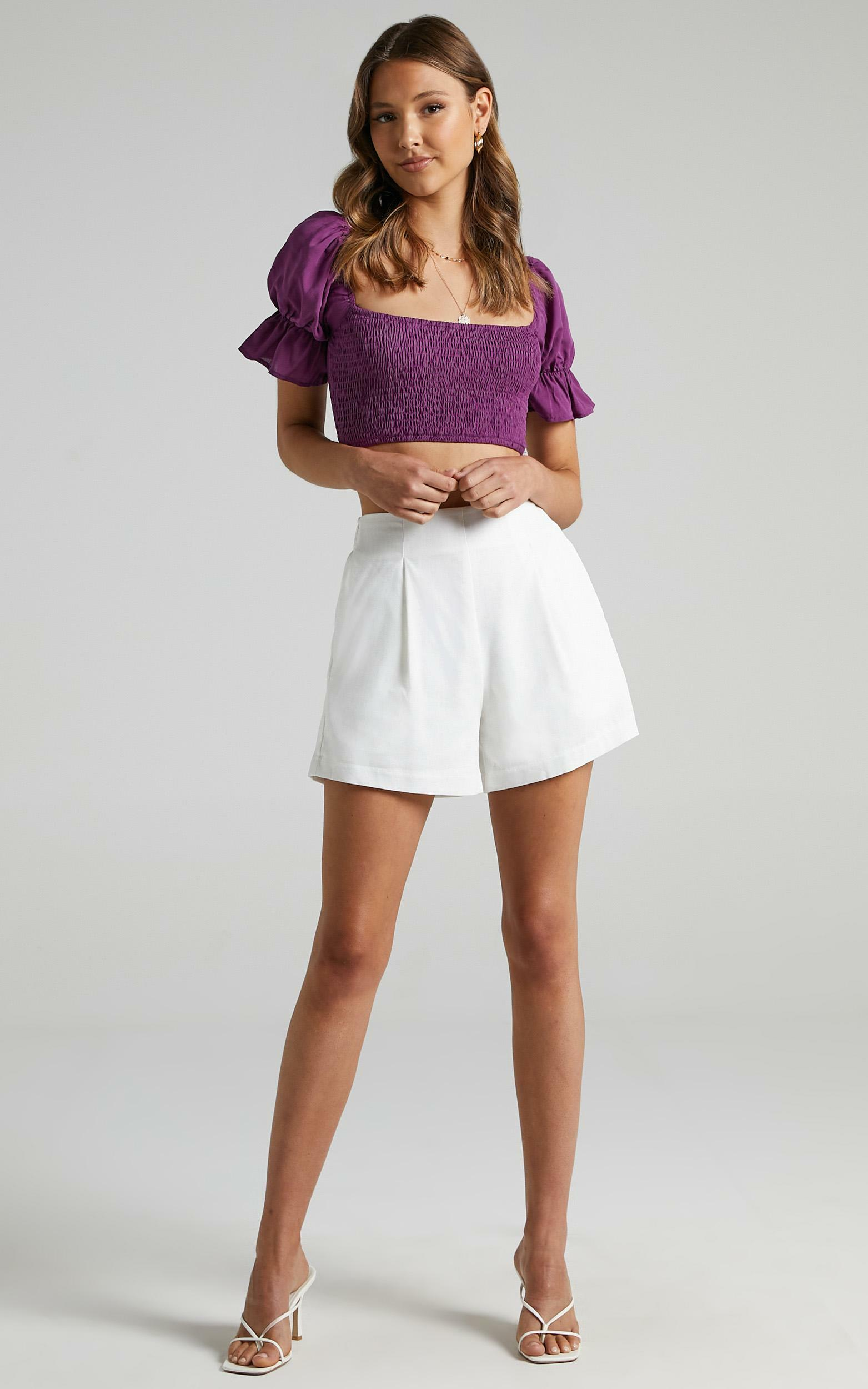 Audette Top in Dark Orchid - 6 (XS), Purple, hi-res image number null