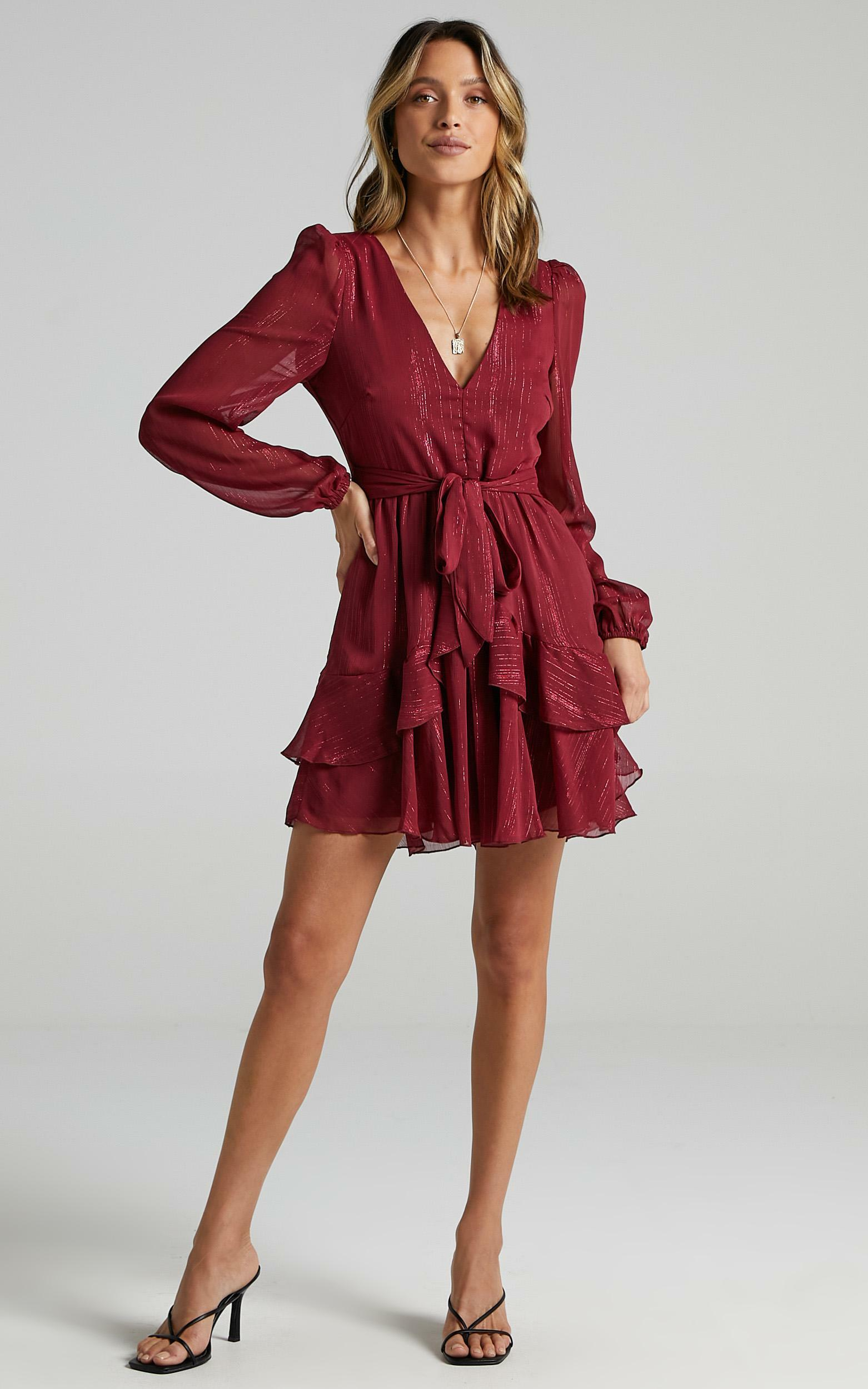 Eyes That Know Me Dress In wine - 20 (XXXXL), Wine, hi-res image number null