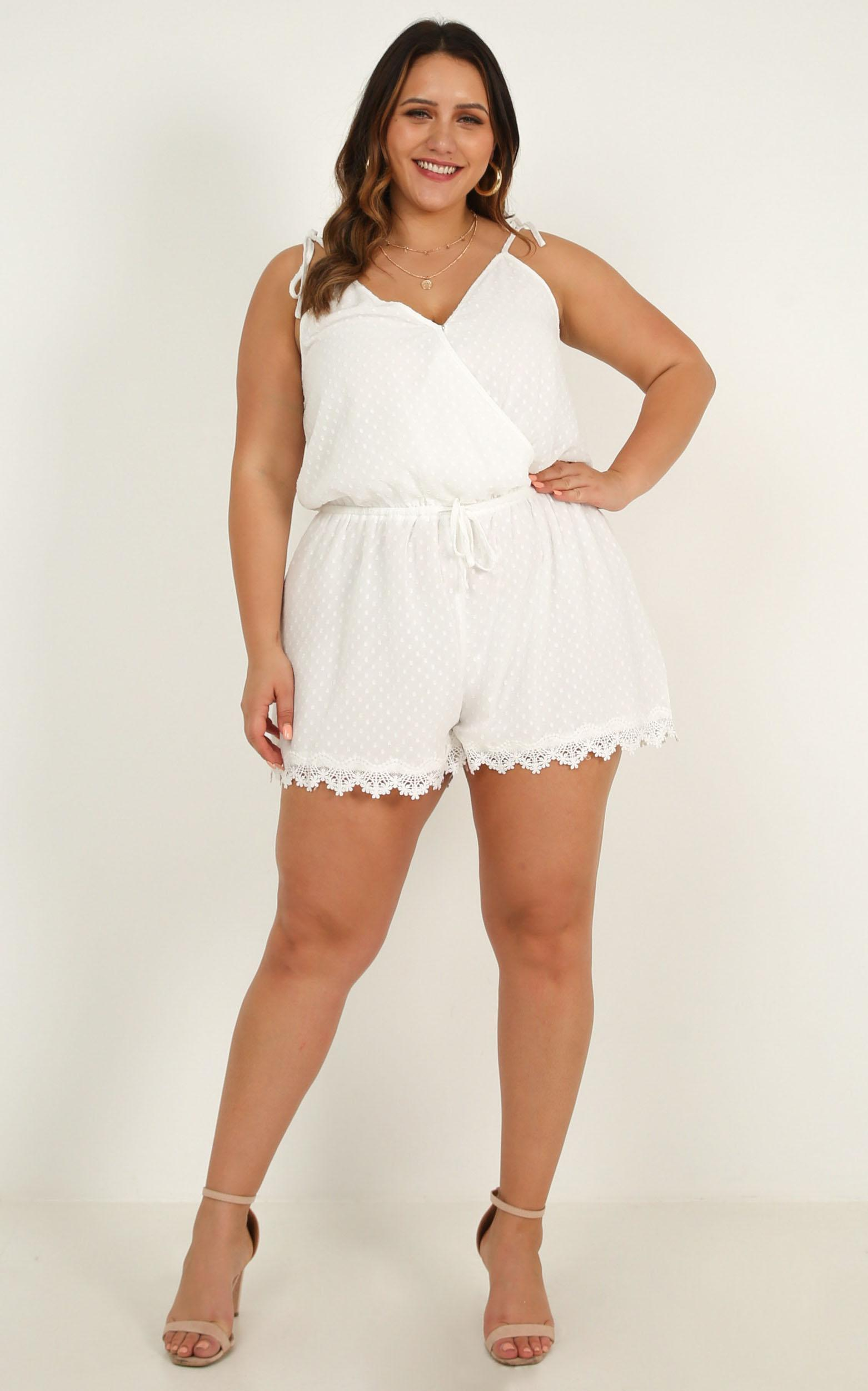 Tropo Dream Playsuit in white - 20 (XXXXL), White, hi-res image number null