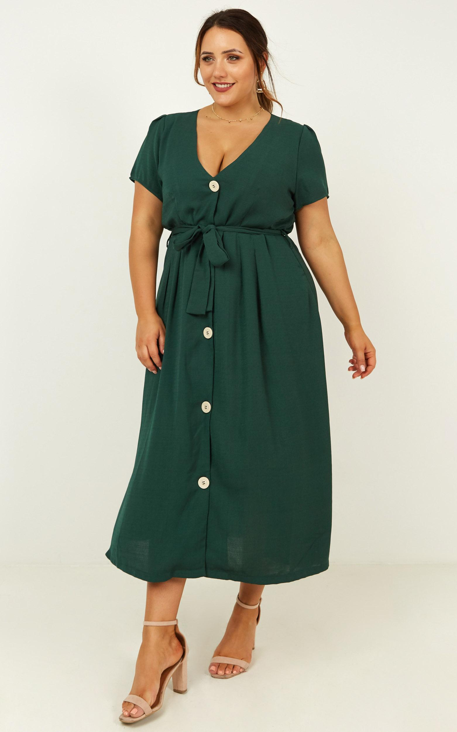 Research breakthrough Dress in emerald - 20 (XXXXL), Green, hi-res image number null