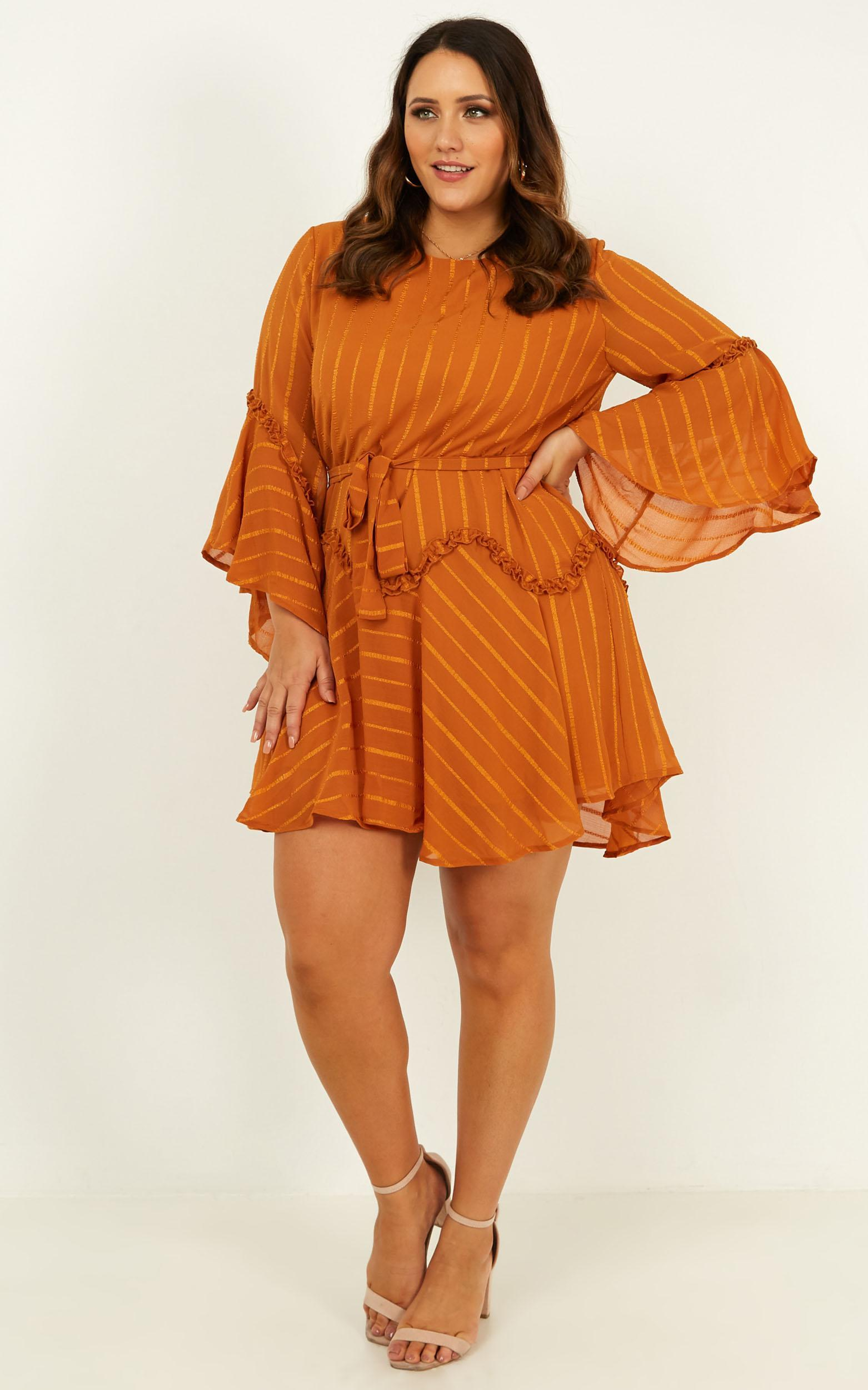 Slow me down dress in rust - 16 (XXL), Rust, hi-res image number null
