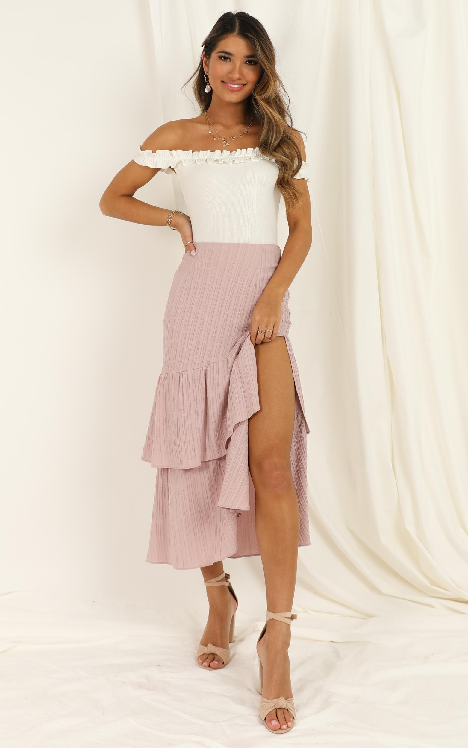 Day Tripper midi skirt In blush - 20 (XXXXL), Blush, hi-res image number null