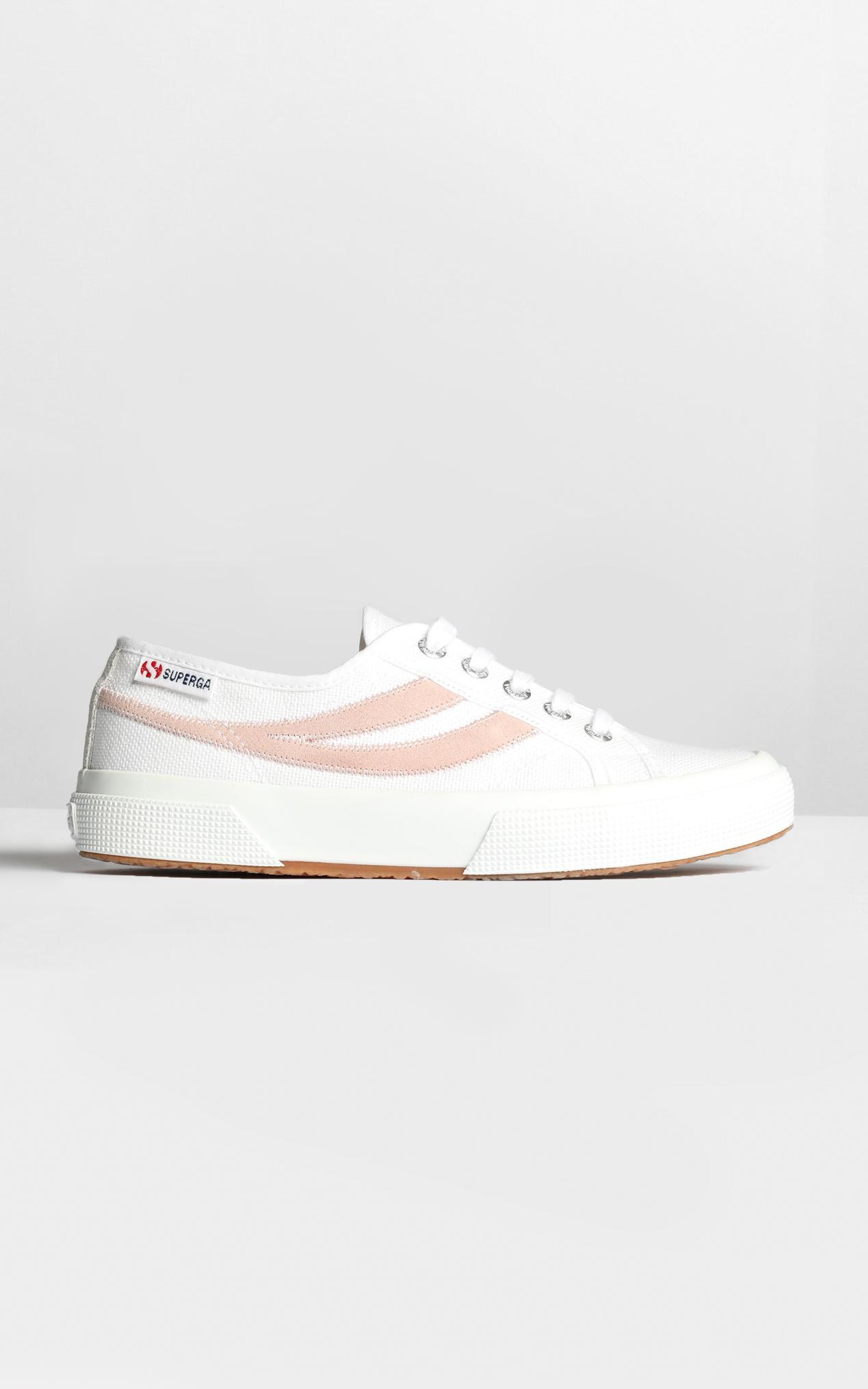 Superga - 2953 Swollowtail Cotusuede Sneaker in white and pink - 5, White, hi-res image number null