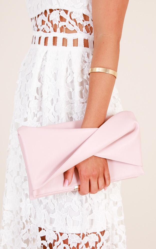 Start Something clutch bag in blush, , hi-res image number null