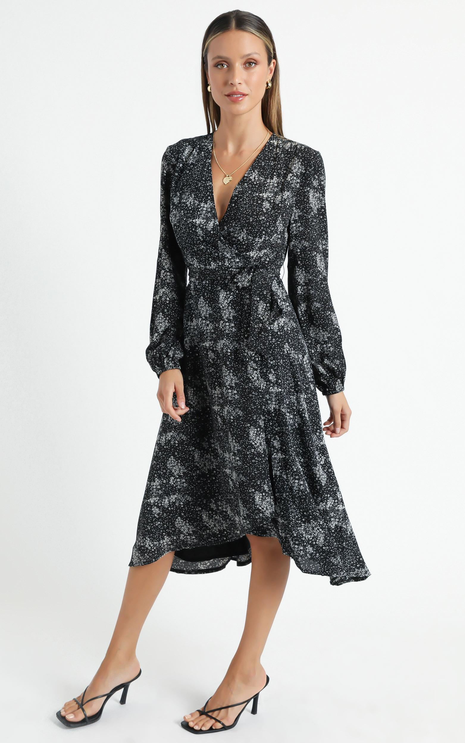 Tuscan Fields Dress in black floral - 4 (XXS), BLK1, hi-res image number null