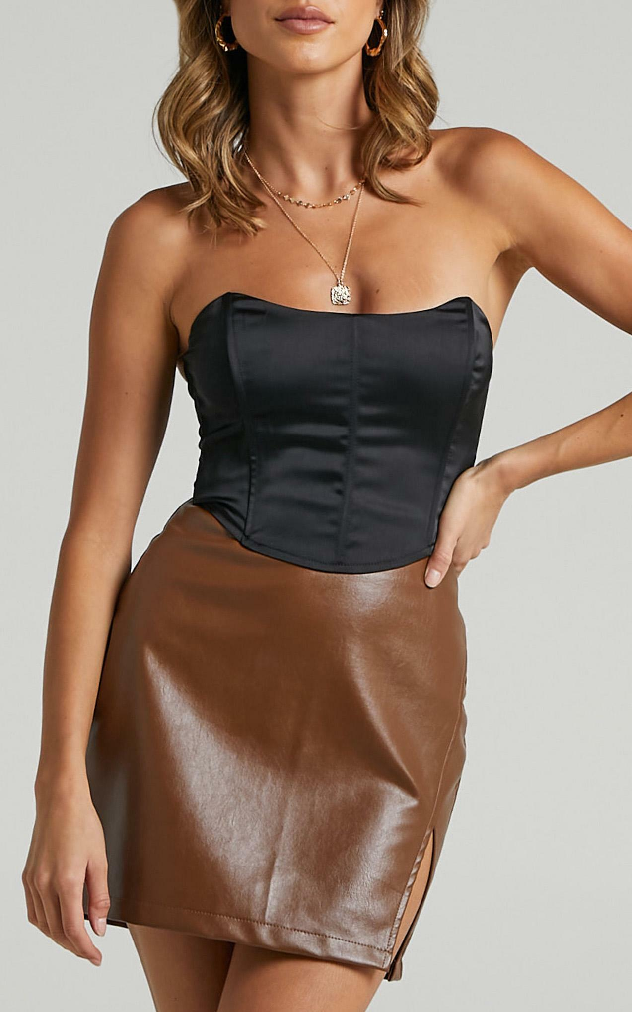 Boy Better Know Corset Top in black - 16 (XXL), Black, hi-res image number null