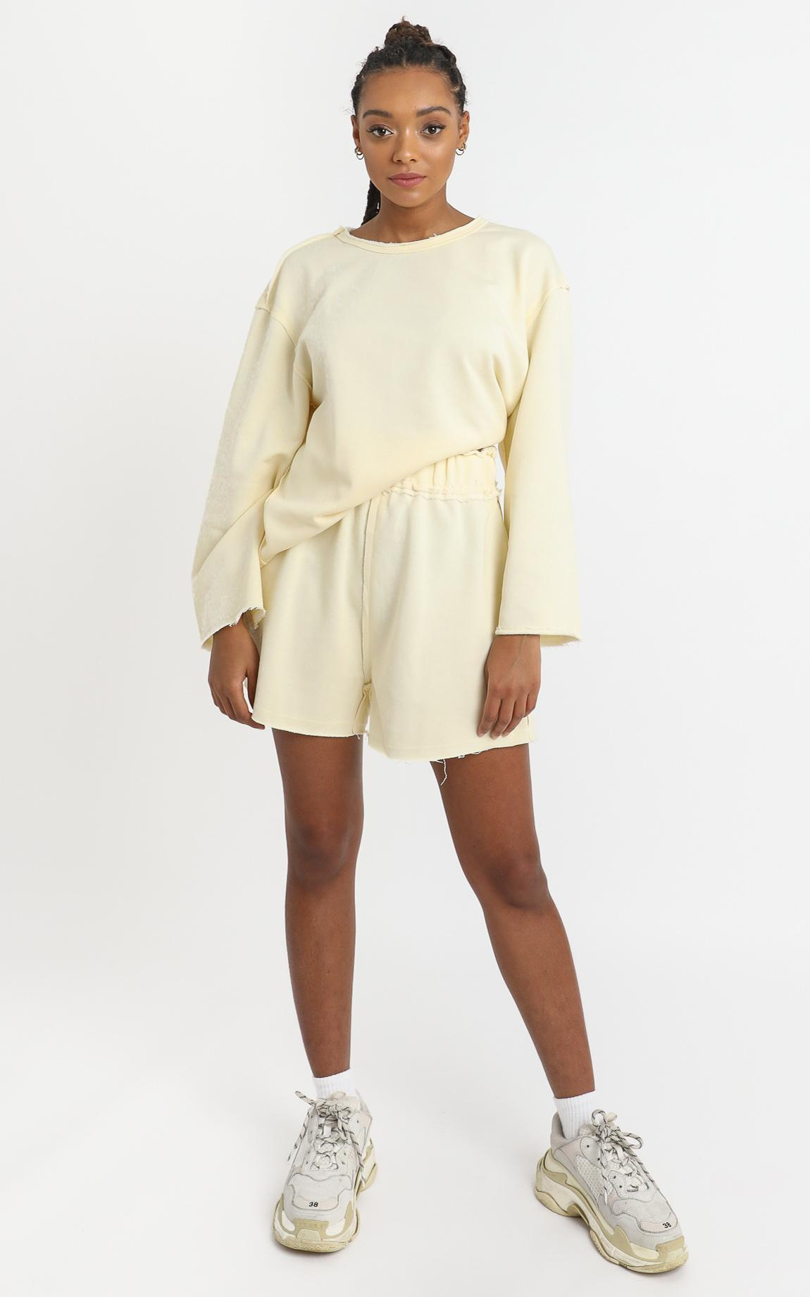 Fable Shorts in Pastel Yellow - 6 (XS), Yellow, hi-res image number null