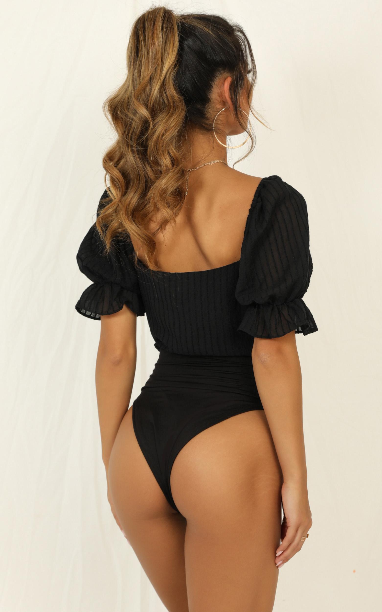 Cut Them Off Bodysuit in black - 12 (L), Black, hi-res image number null