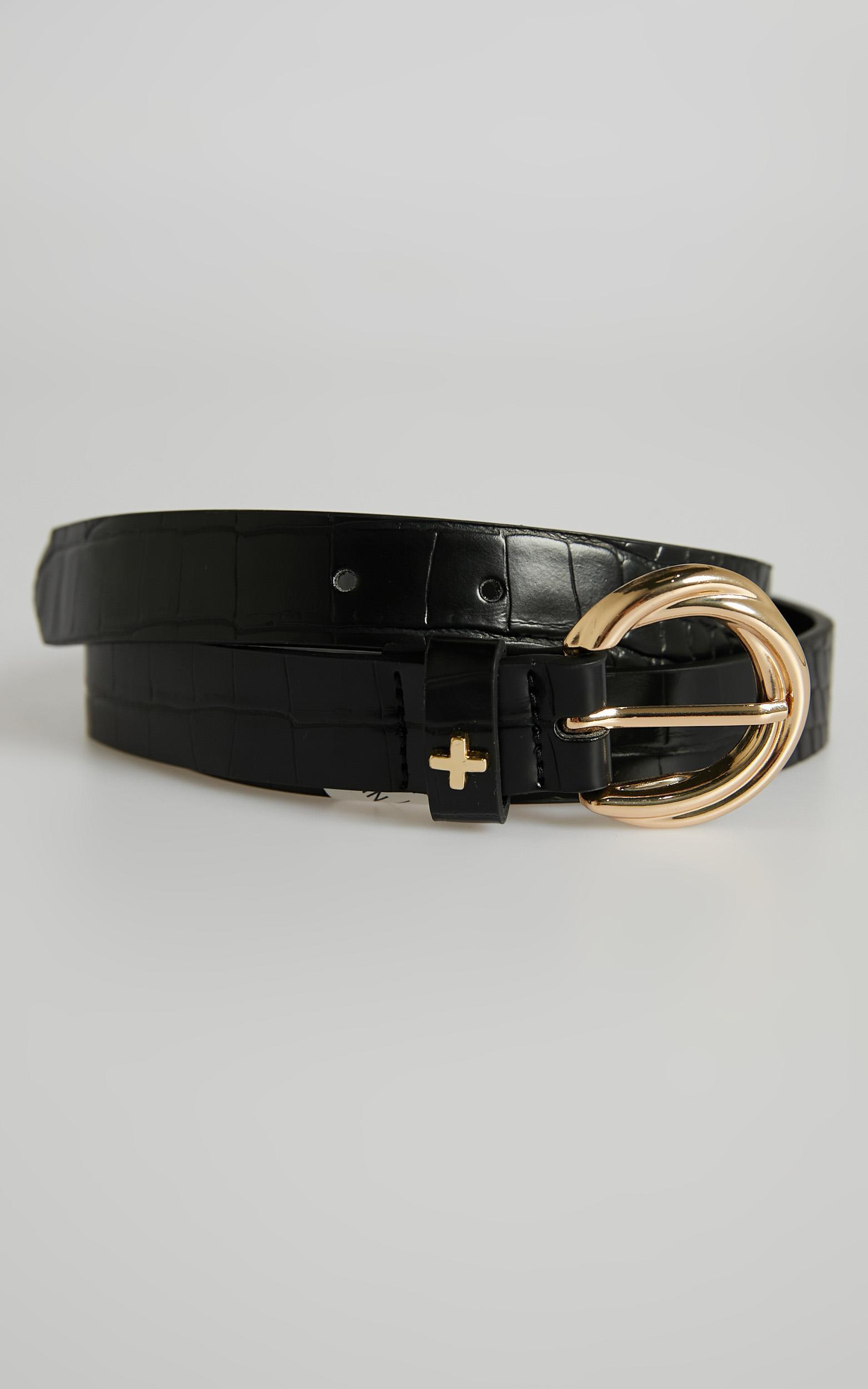 Peta and Jain - Alexis Belt in Black Gold, Black, hi-res image number null