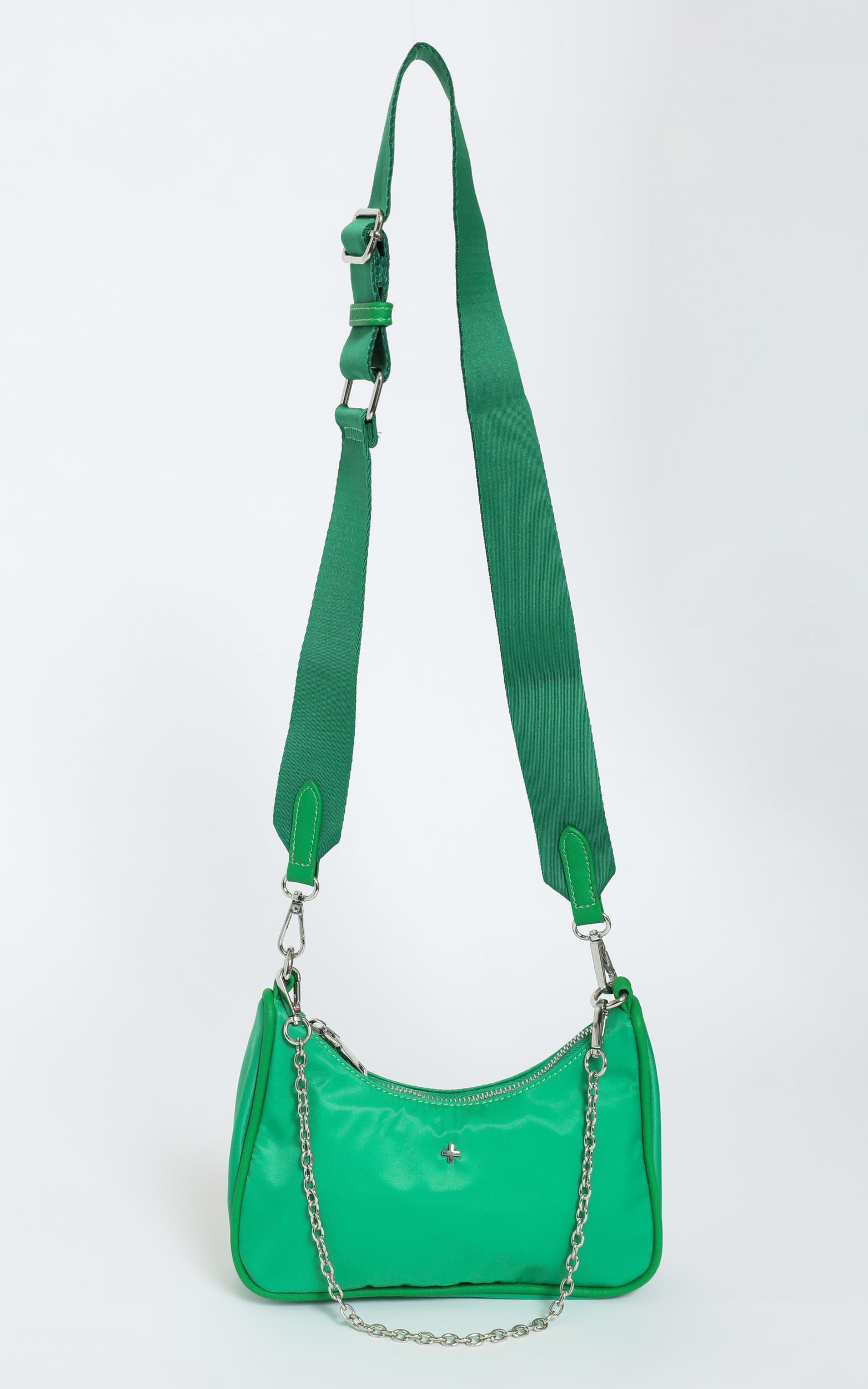 Peta and Jain -  Paloma Bag in Green Nylon, , hi-res image number null
