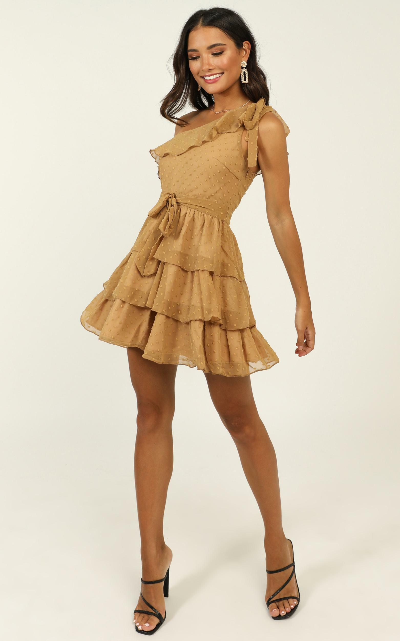 Darling I Am A Daydream Dress in camel- 20 (XXXXL), Camel, hi-res image number null