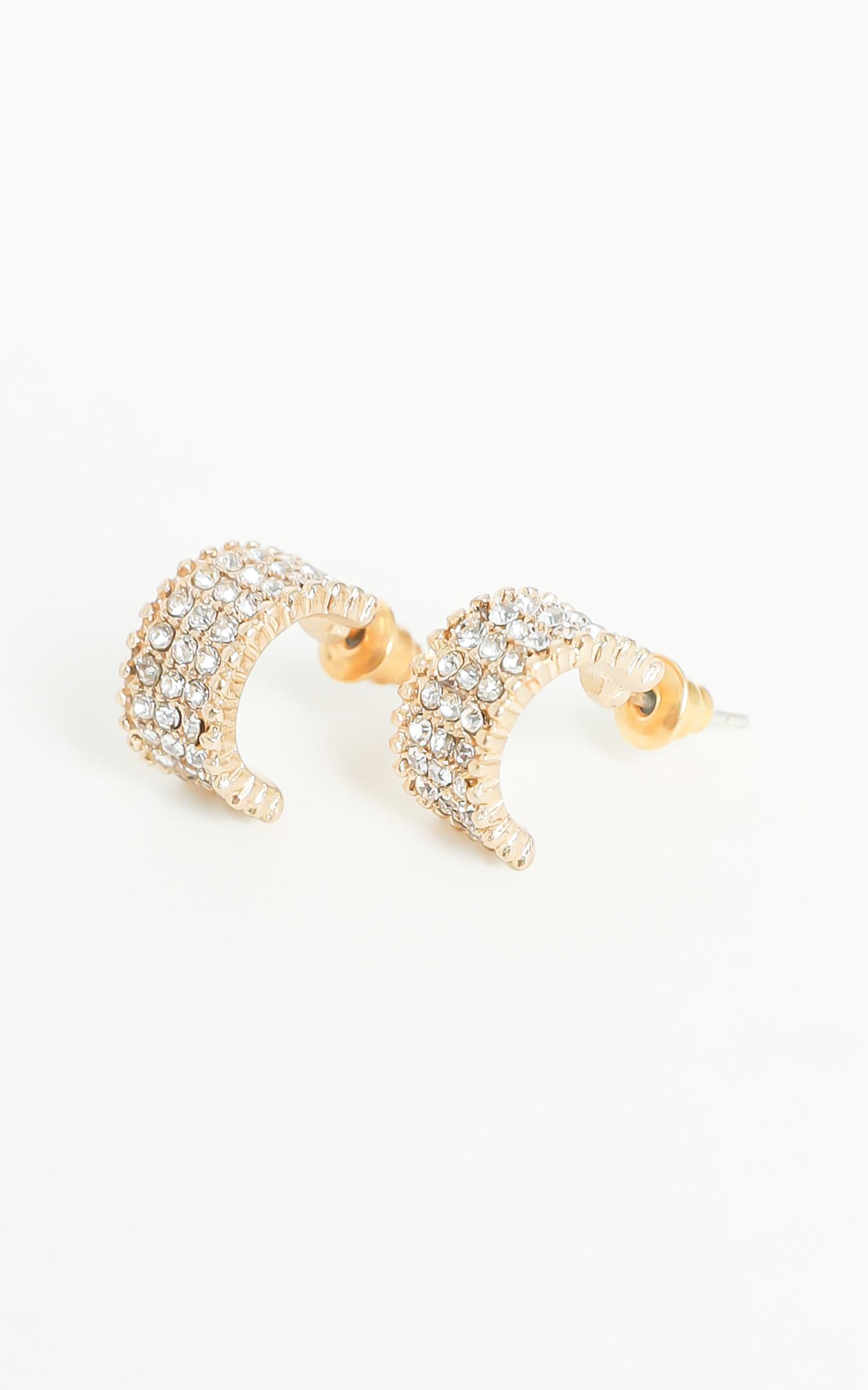 Kleo Hoop Gemstone Earrings in Gold, , hi-res image number null