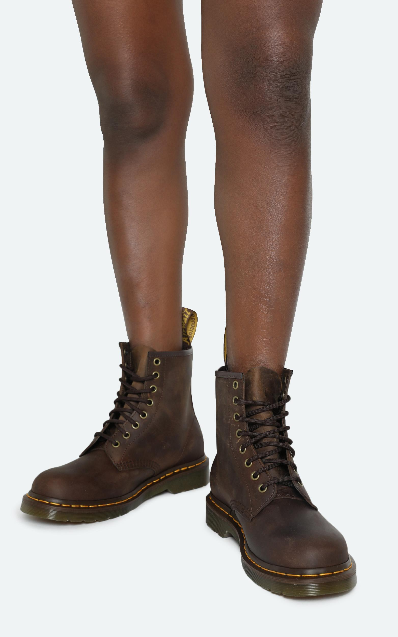 Dr. Martens - 1460 8 Eye Boot in Gaucho Crazy Horse - 5, Brown, hi-res image number null