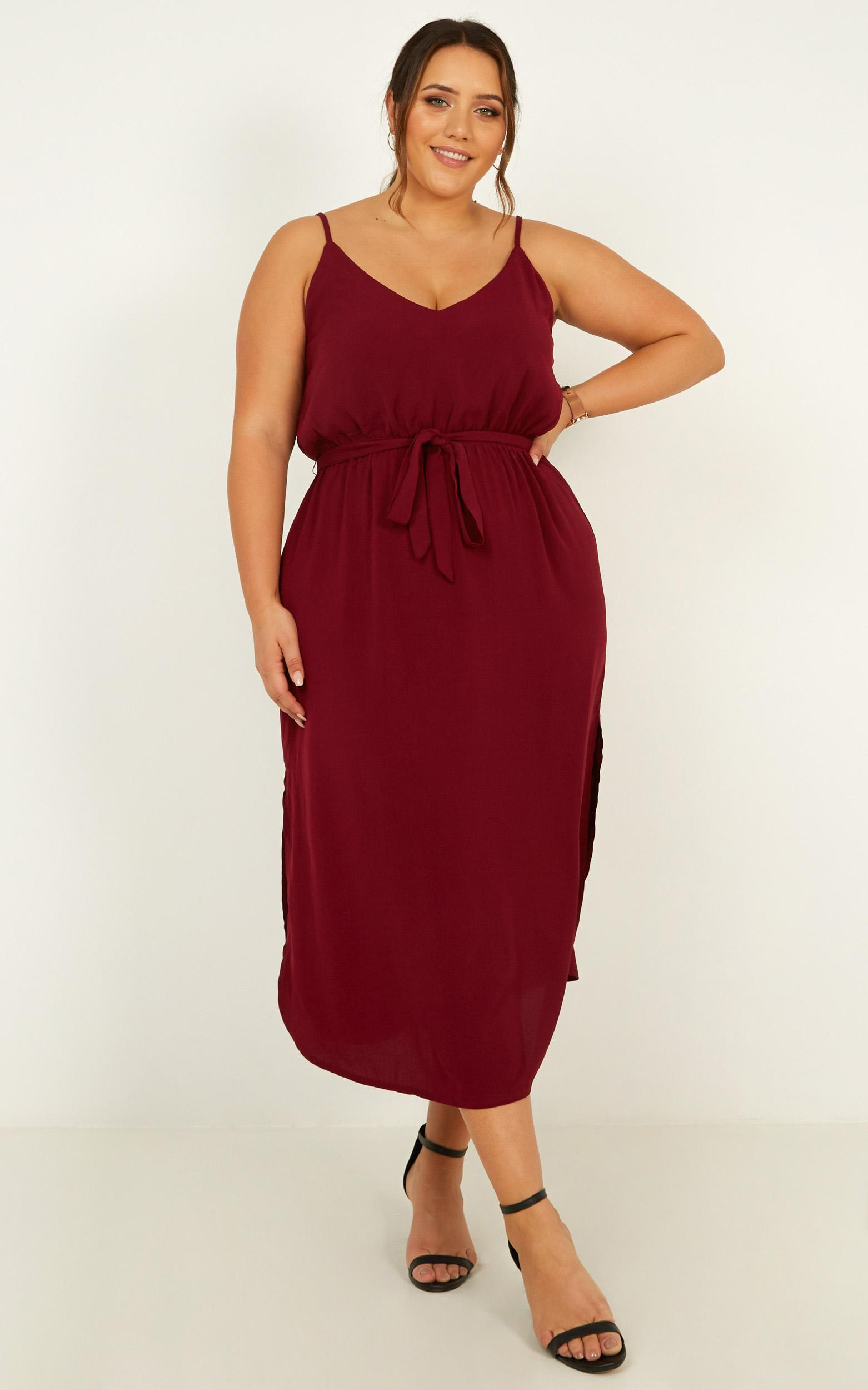 Straight For You Dress in  wine - 20 (XXXXL), Wine, hi-res image number null