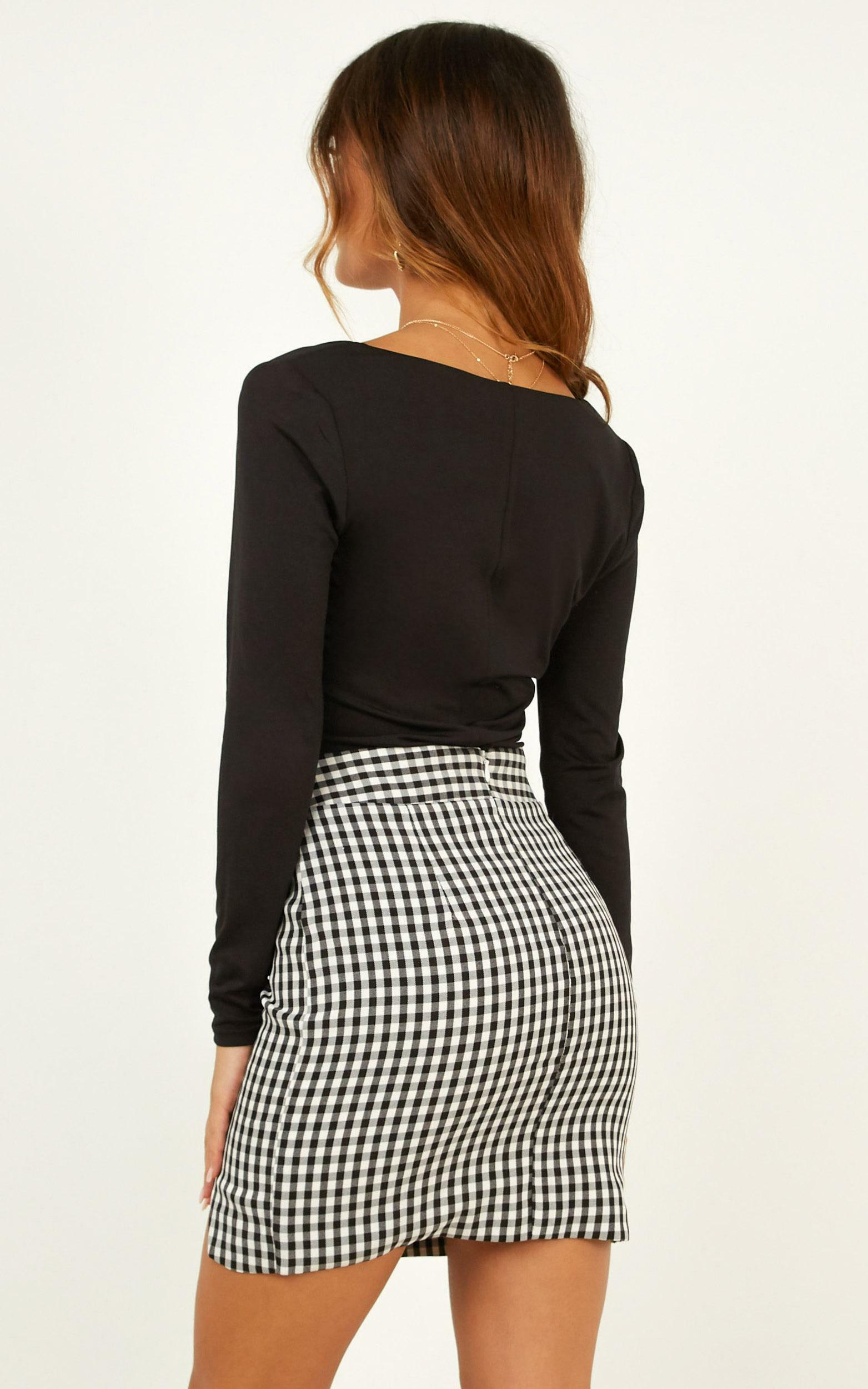 Cancelled Plans Skirt In Black Check - 16 (XXL), BLK1, hi-res image number null