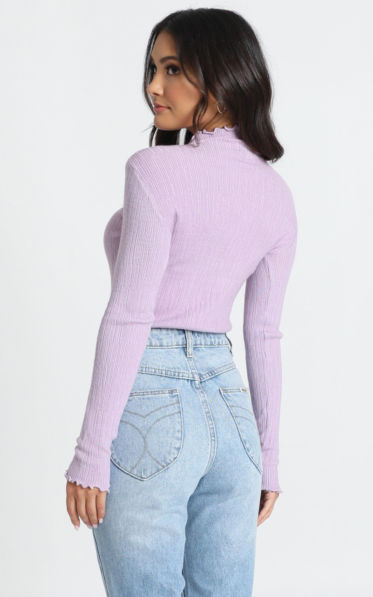 Meghan Knit Top in lilac - S, Purple, hi-res image number null