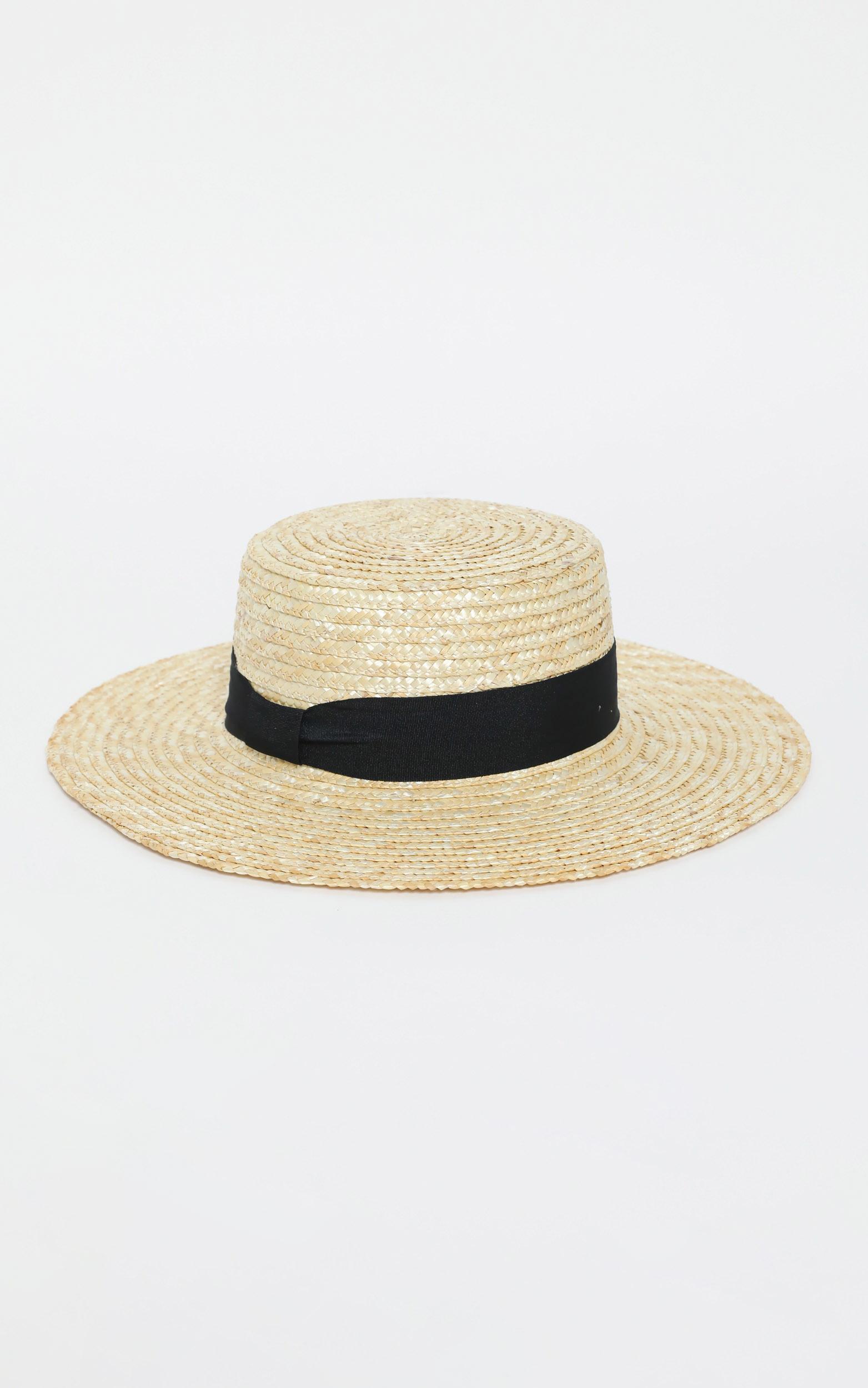Destine Straw Hat in Beige, , hi-res image number null