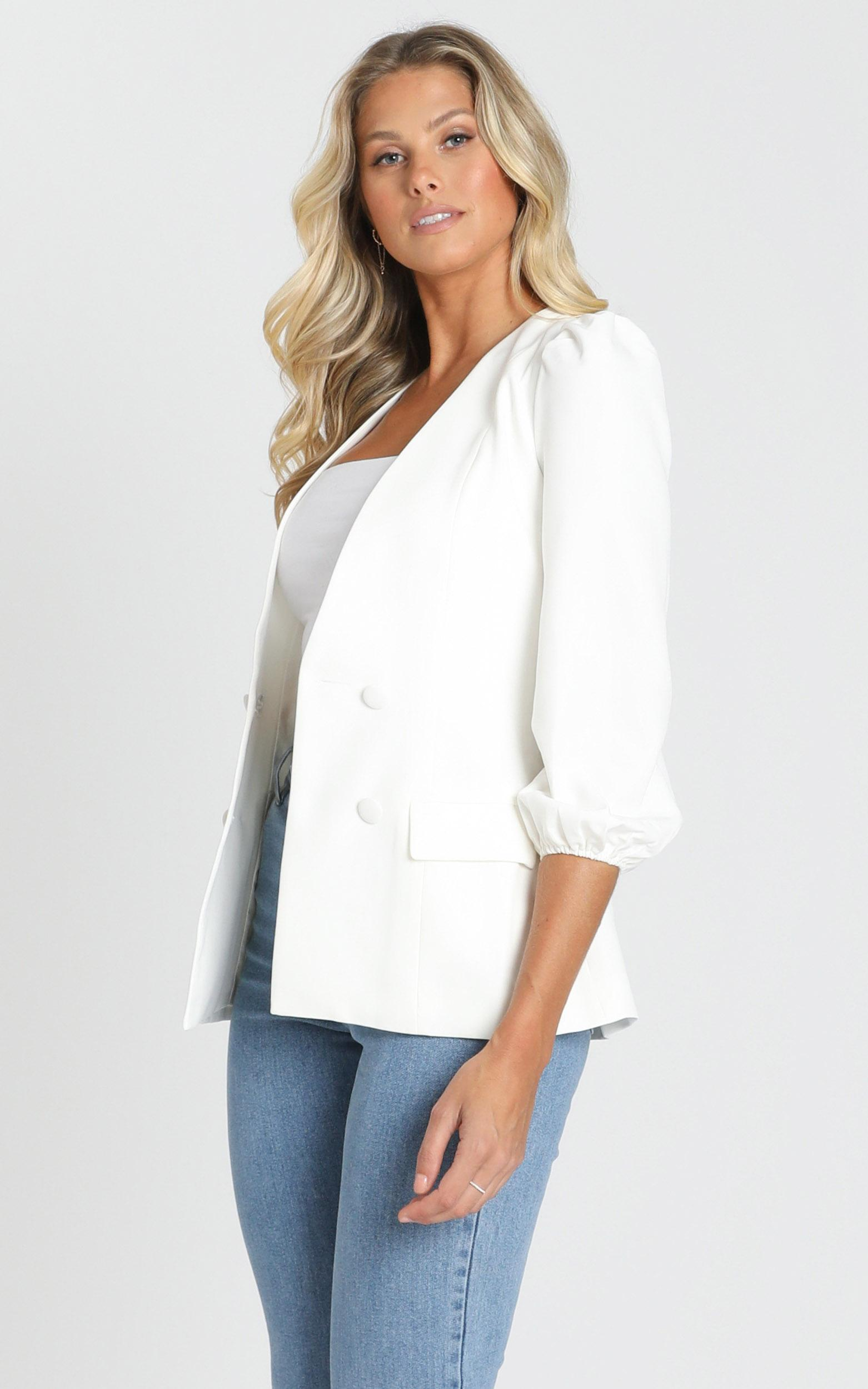 Running Thin Blazer in white - 14 (XL), White, hi-res image number null
