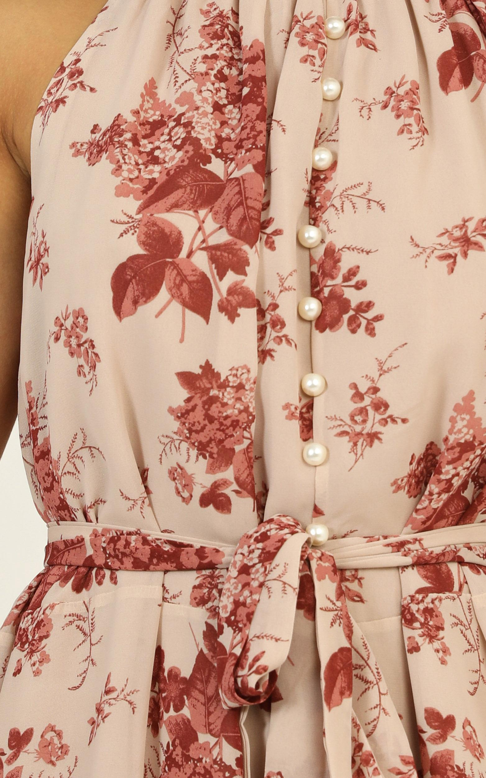 Arlo Dress in pink floral - 14 (XL), Pink, hi-res image number null