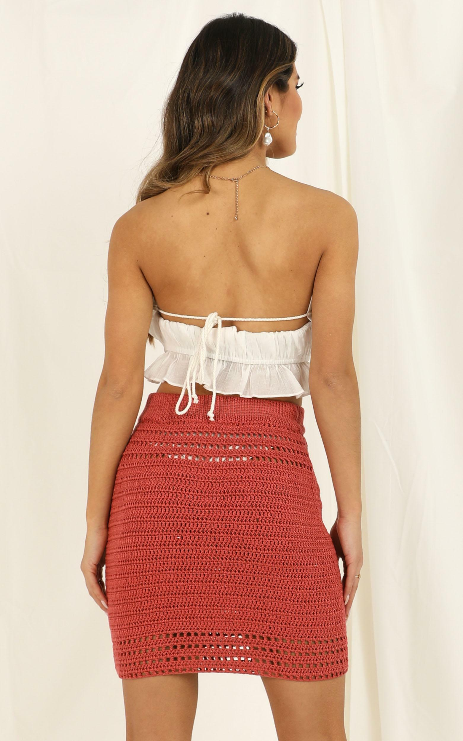 Whats Your Sign Skirt in dusty rose crochet - 6 (XS), Pink, hi-res image number null