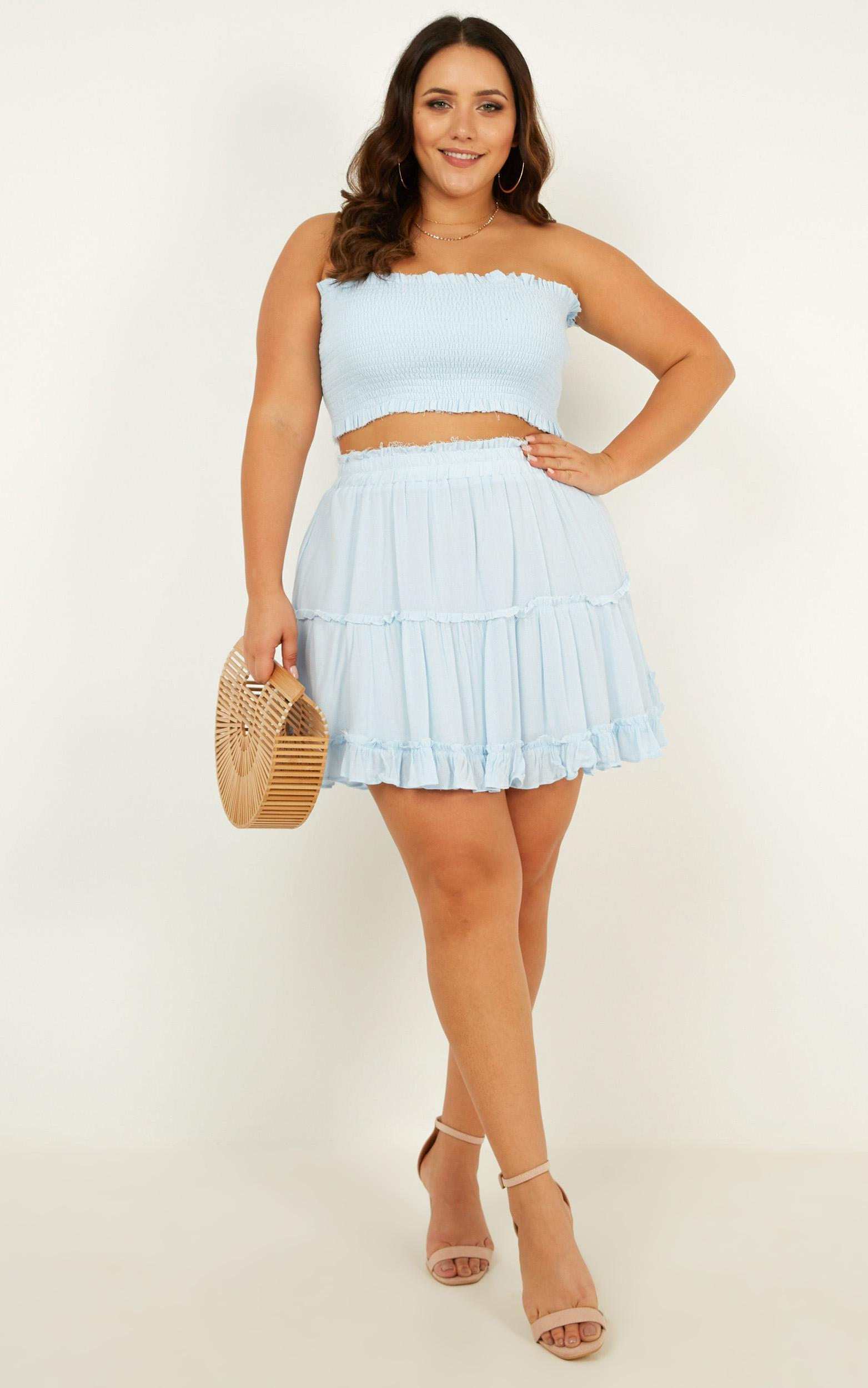 Outside the Line Two Piece Set in baby blue - 20 (XXXXL), Blue, hi-res image number null