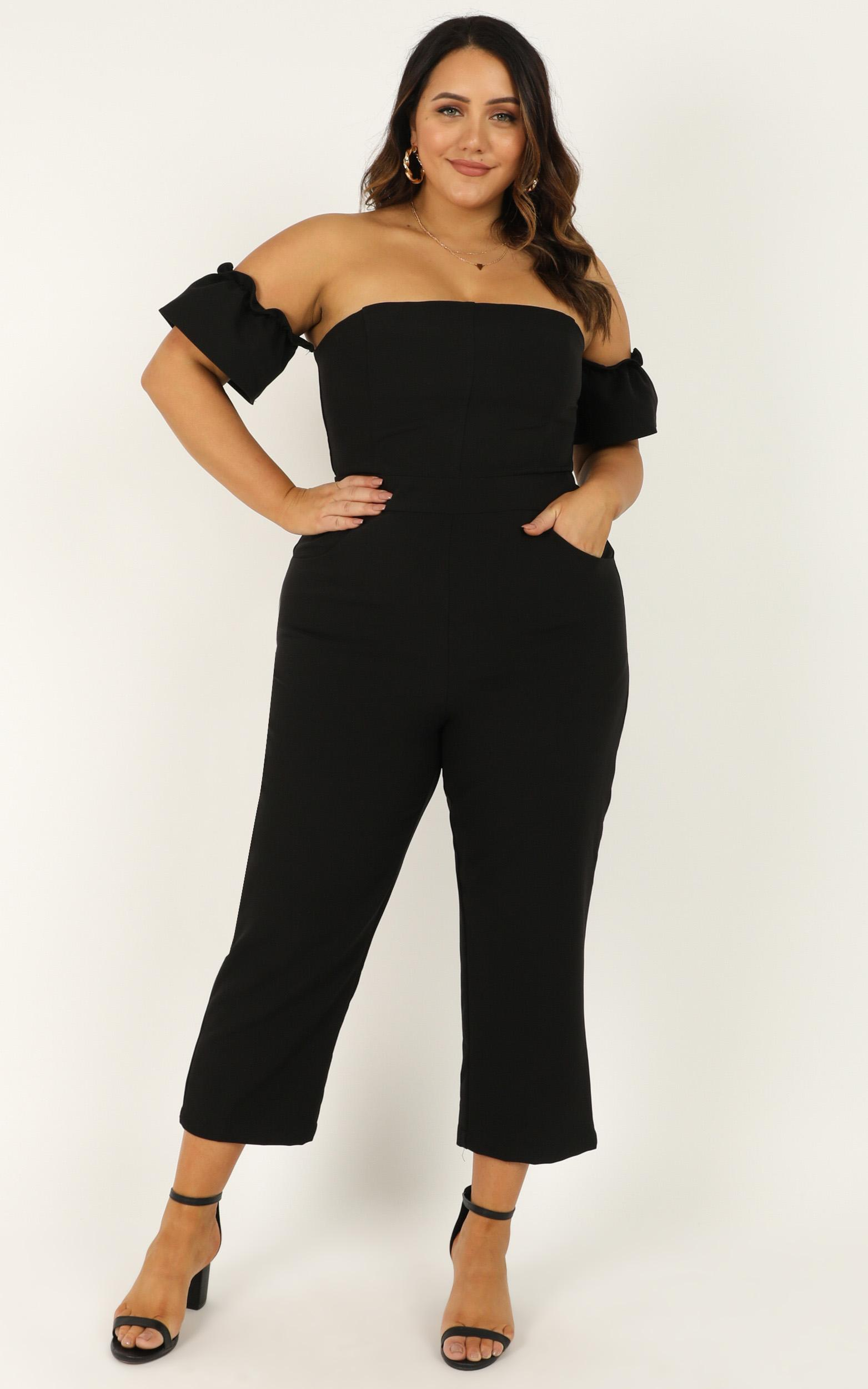 What Do I Have To Do Jumpsuit in black - 20 (XXXXL), Black, hi-res image number null