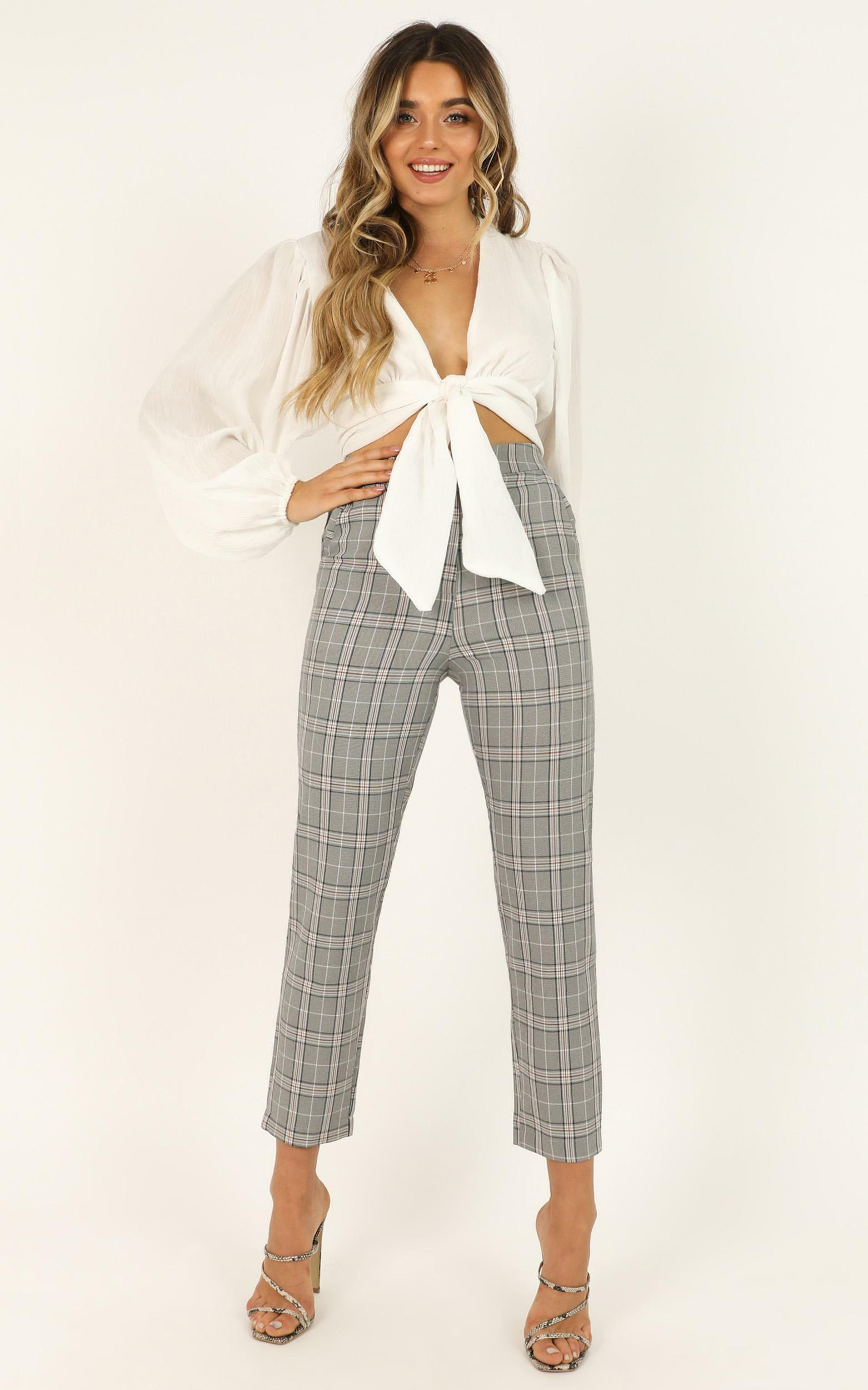 Modern Way Pants In grey check - 18 (XXXL), Grey, hi-res image number null