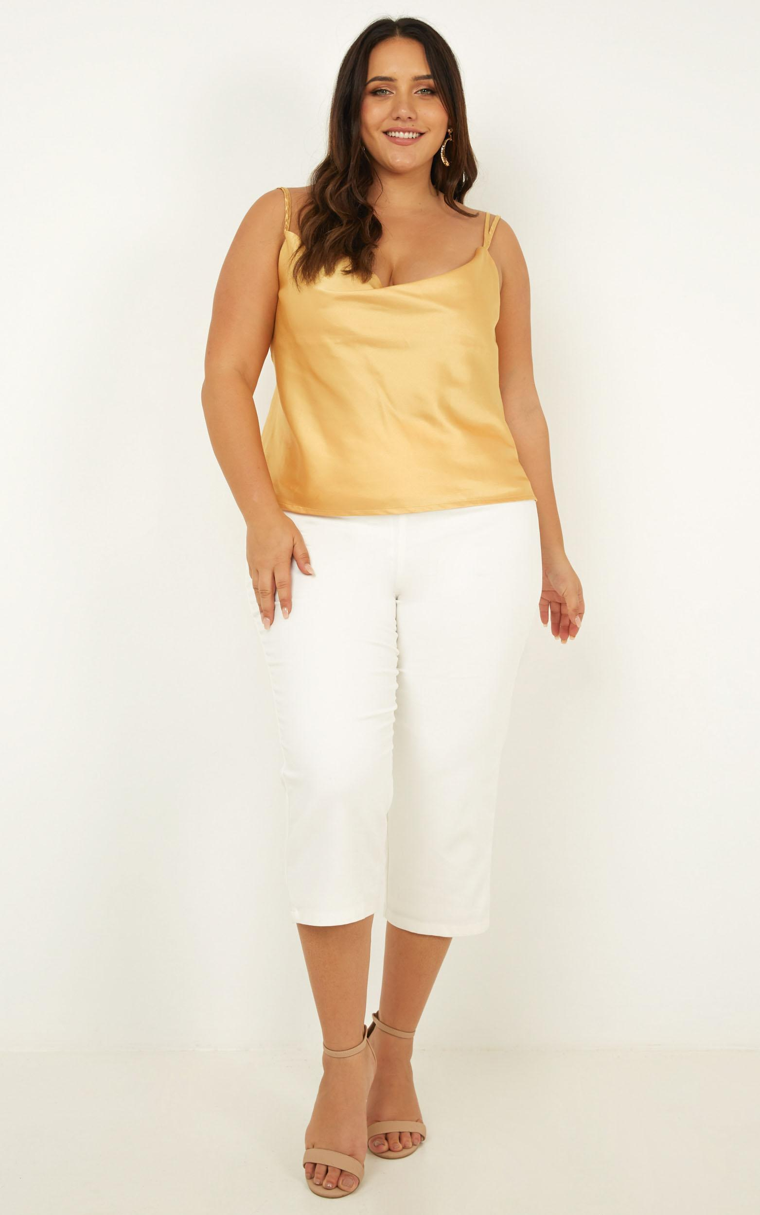 In My Mind Top In yellow satin - 20 (XXXXL), Yellow, hi-res image number null