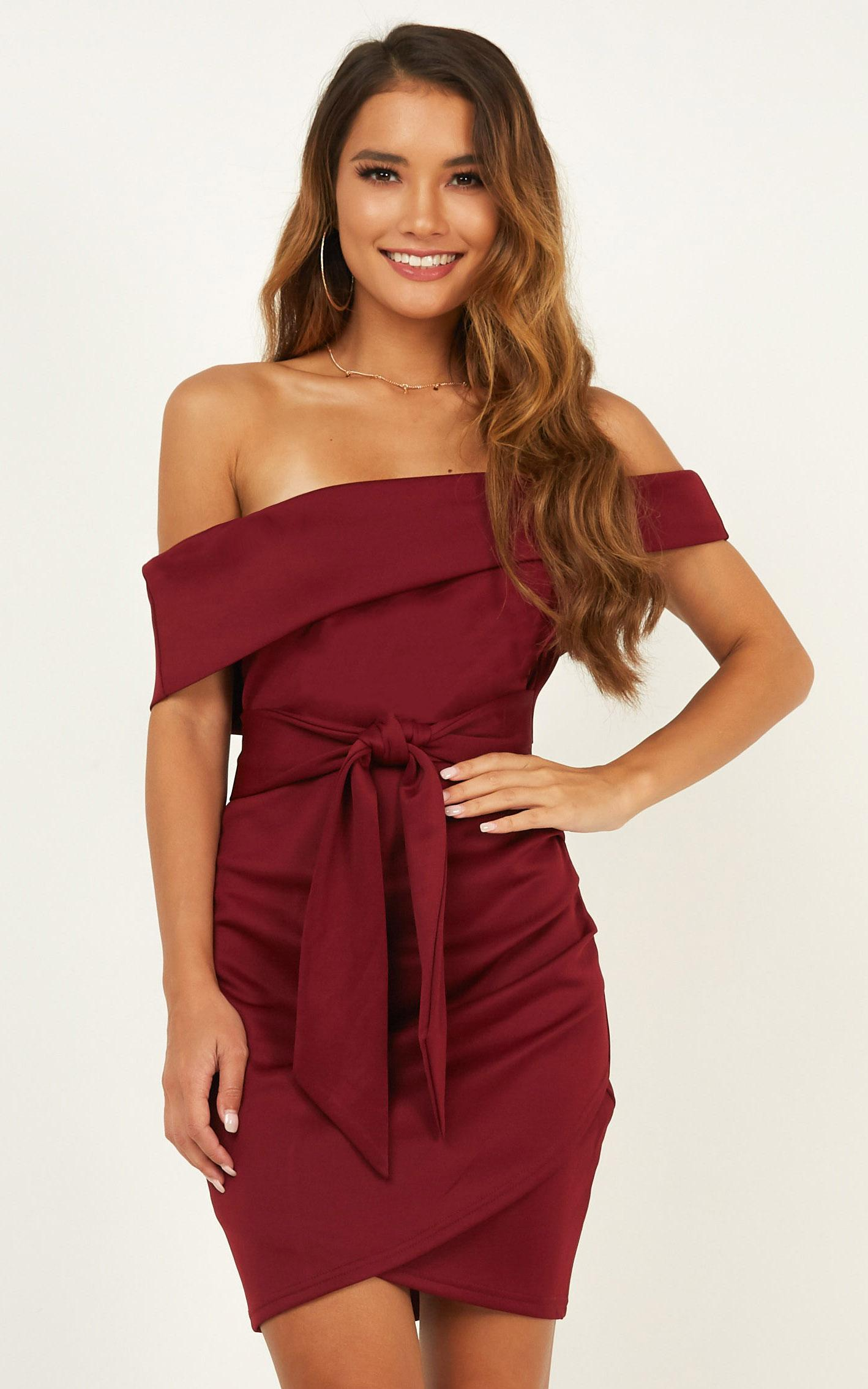 Look To The Future Dress In wine - 14 (XL), Wine, hi-res image number null