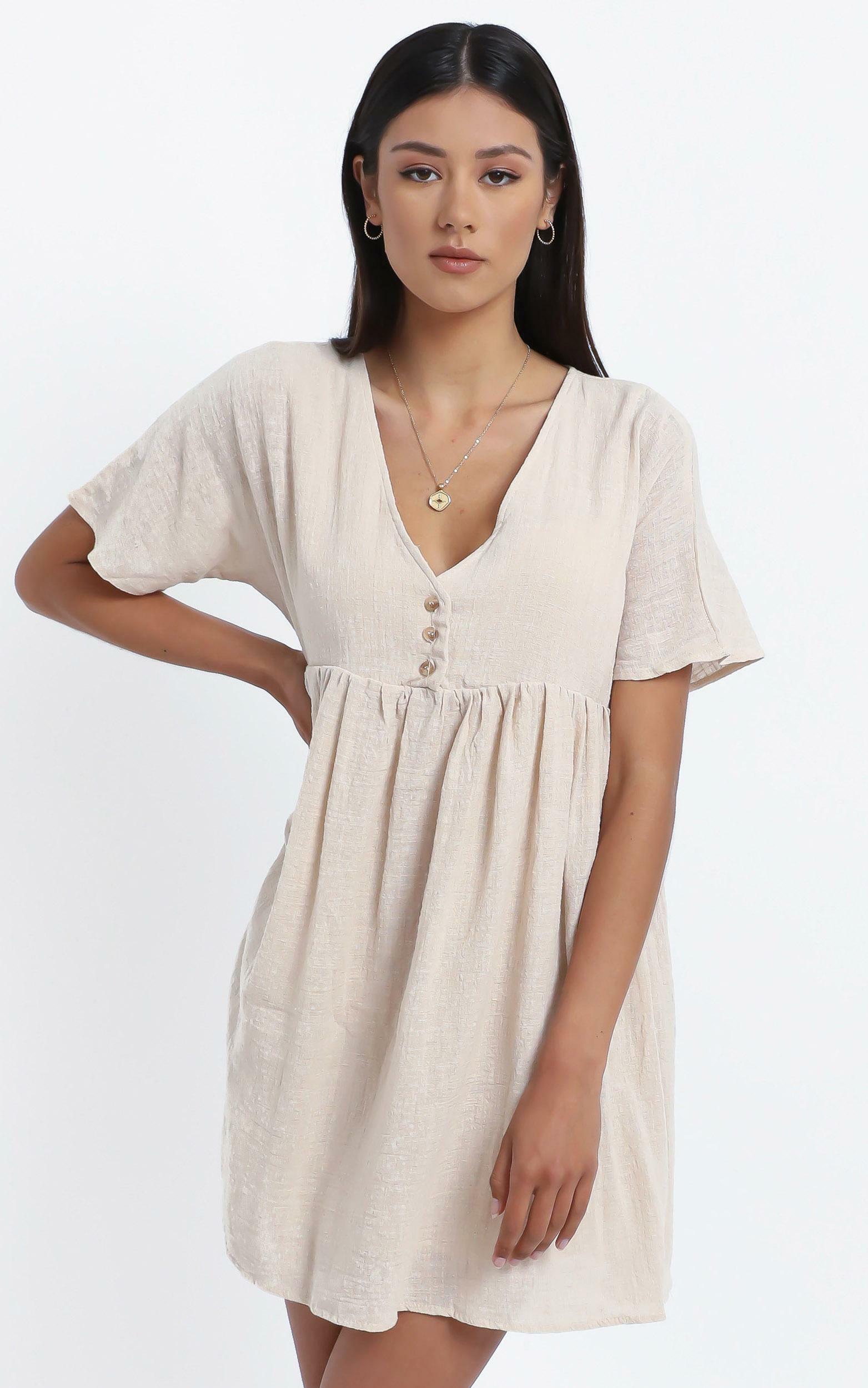 Coraline Dress in Beige - 12 (L), Beige, hi-res image number null