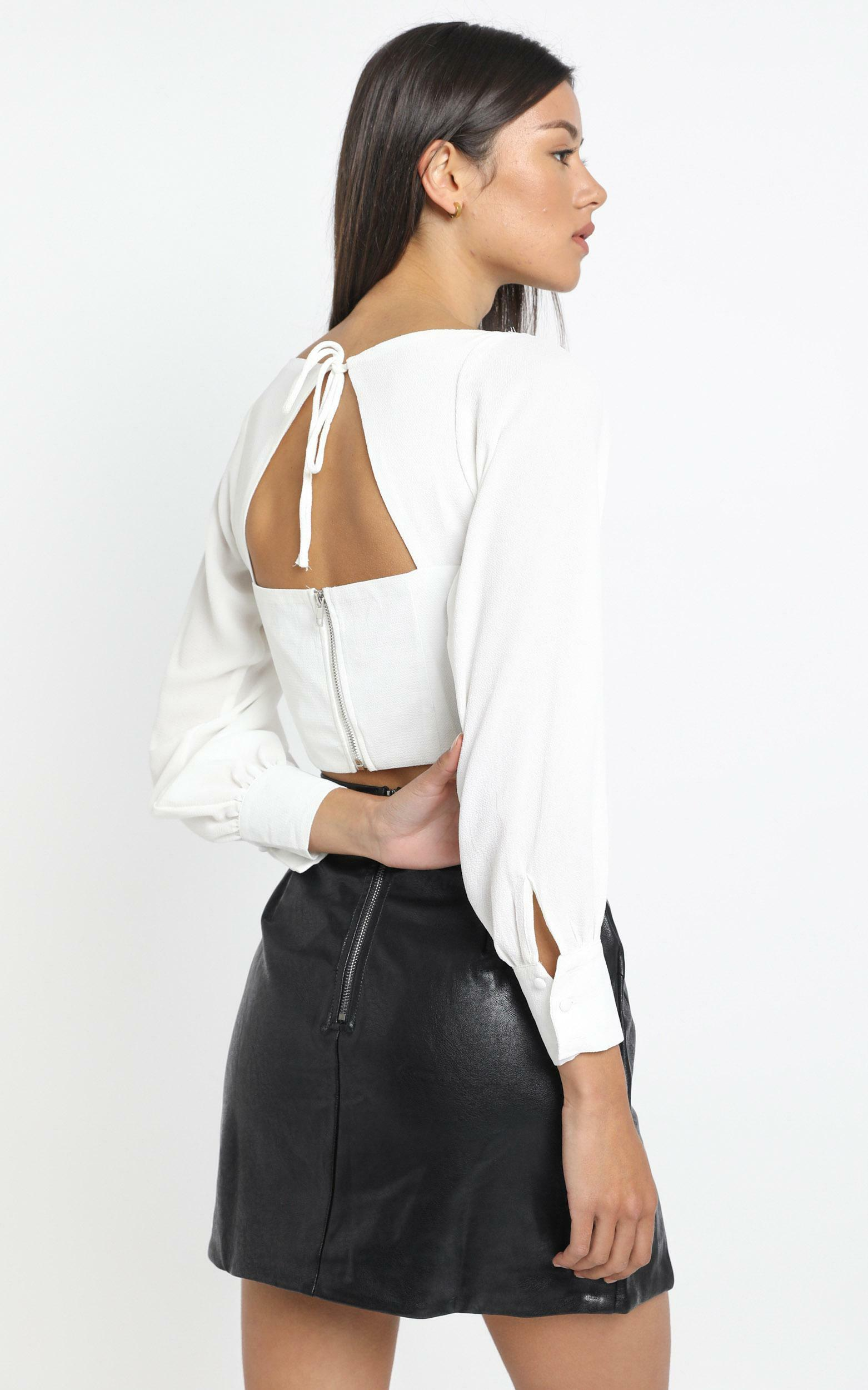 Amber Top in White - 14 (XL), White, hi-res image number null