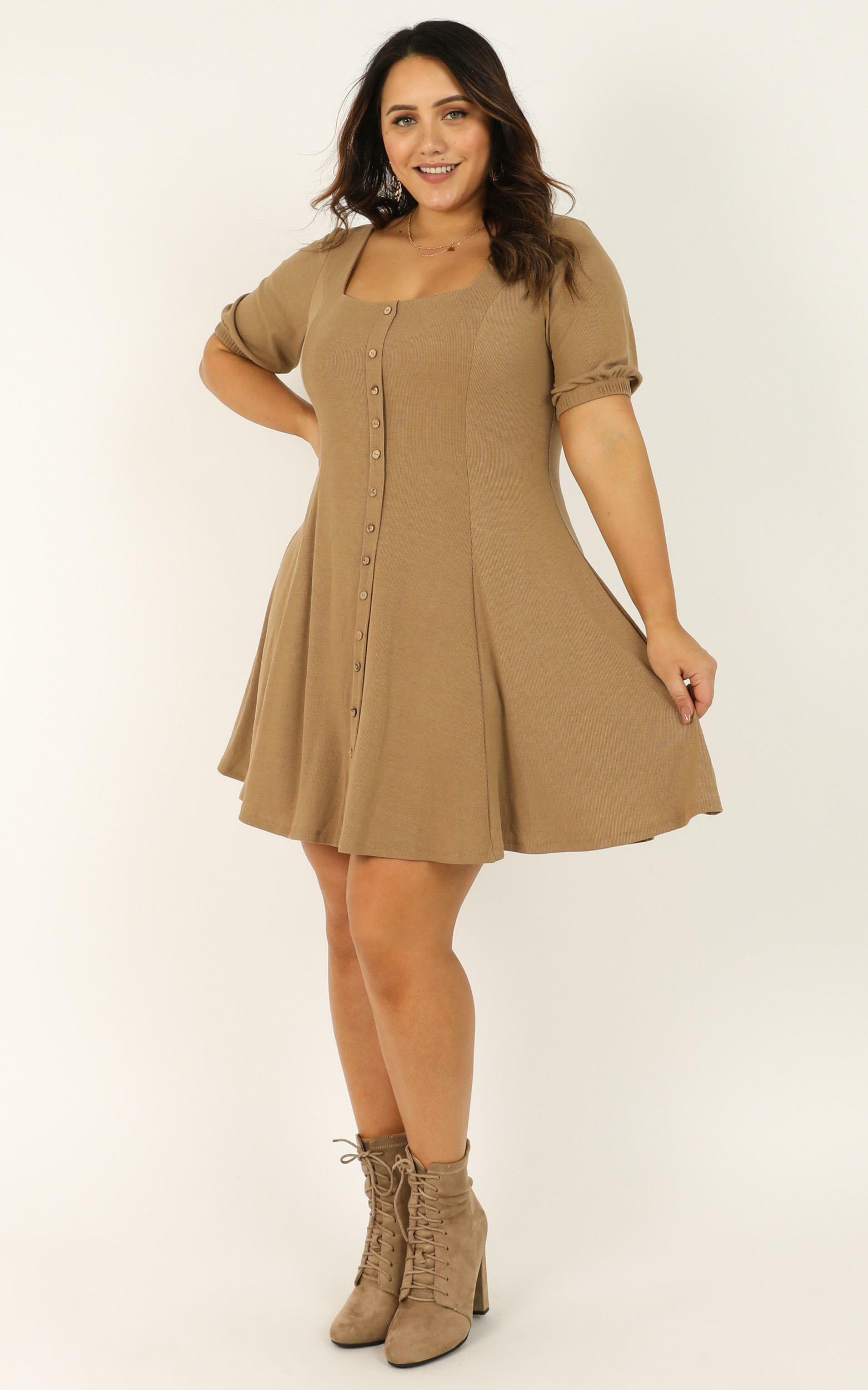 Lets Do This Dress in mocha - 20 (XXXXL), Mocha, hi-res image number null