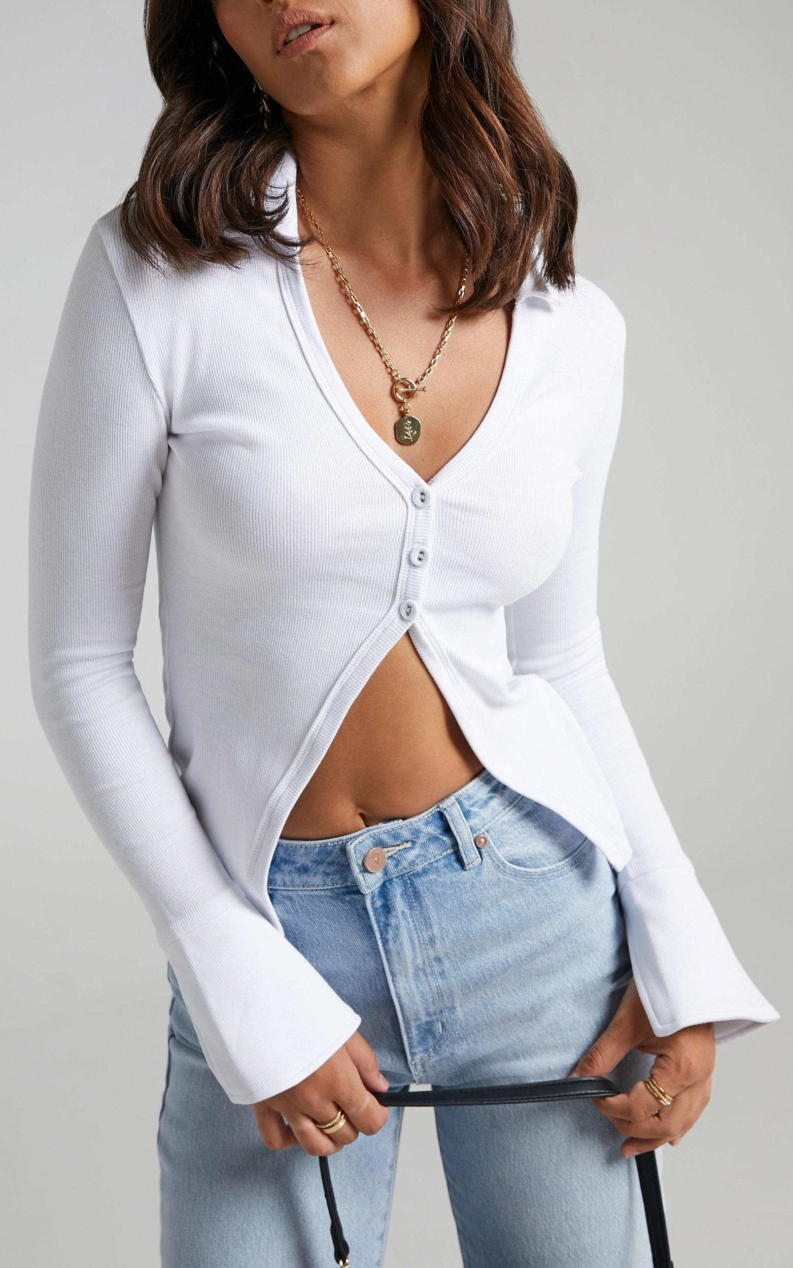 Amsu Top in White - 6 (XS), White, hi-res image number null