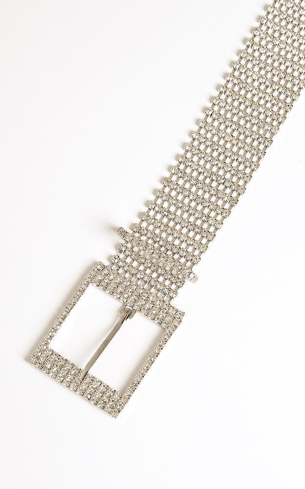 Aura Glow Belt in Silver, , hi-res image number null