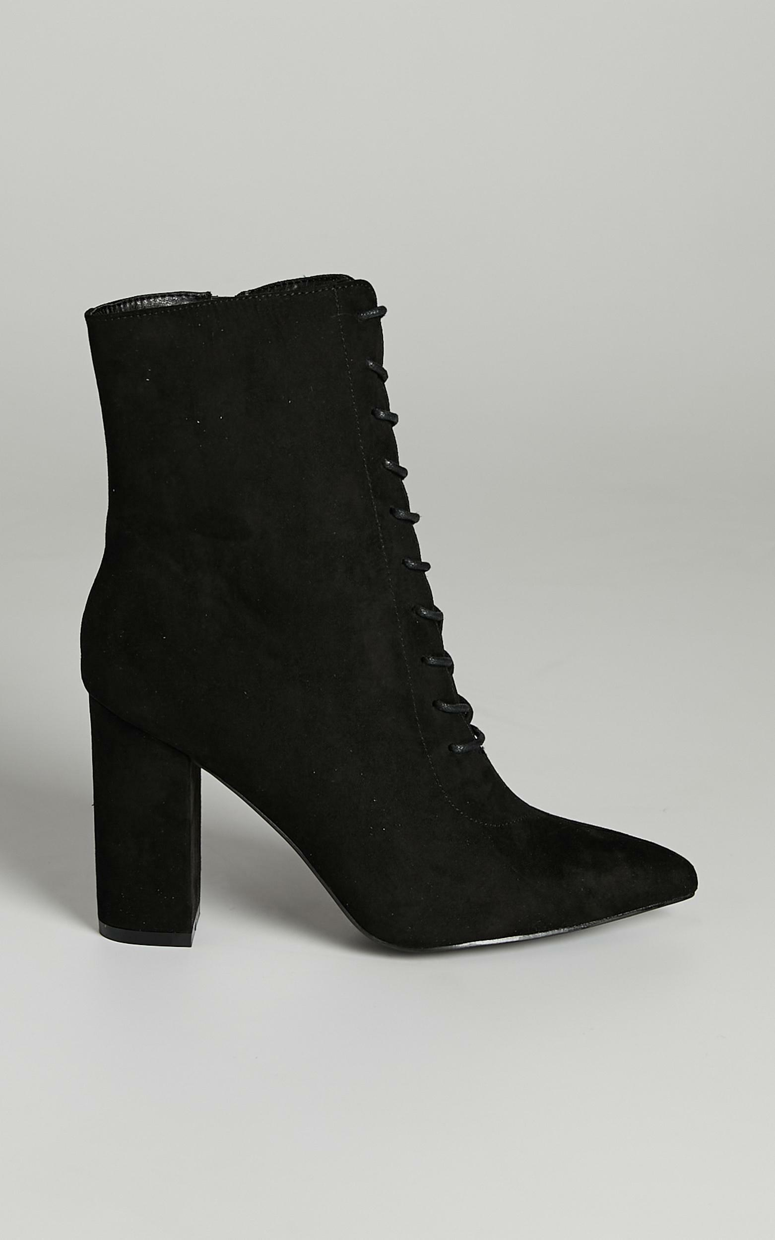 Verali - Danielle Boots in Black Micro - 05, BLK1, hi-res image number null