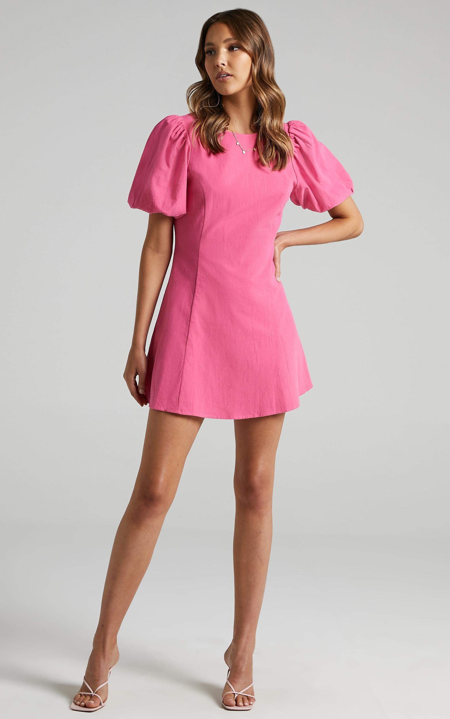 Bastina Dress in Bubblegum Pink - 6 (XS), Pink, hi-res image number null