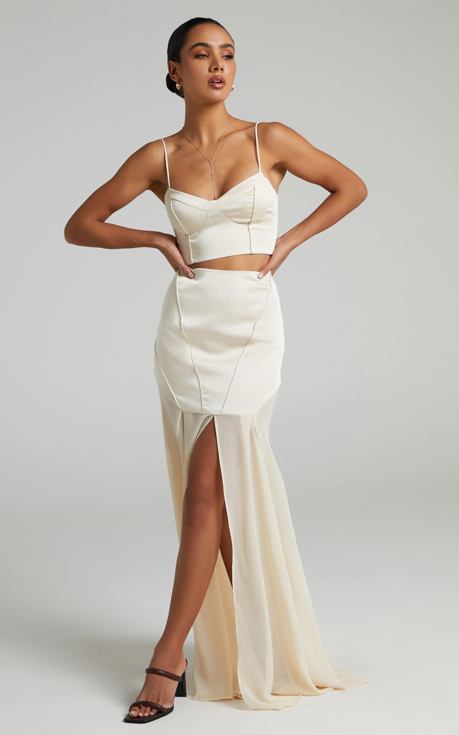 Prem The Label - Ivana Maxi Skirt in Champagne - L, NEU1, hi-res image number null