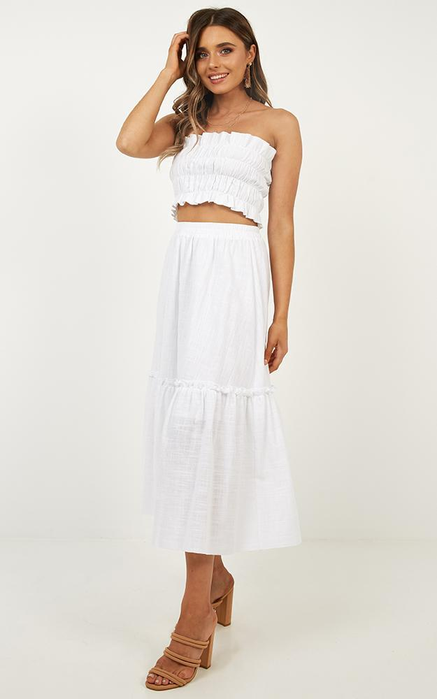 In Their Eyes Two Piece Set in white linen look - 20 (XXXXL), White, hi-res image number null