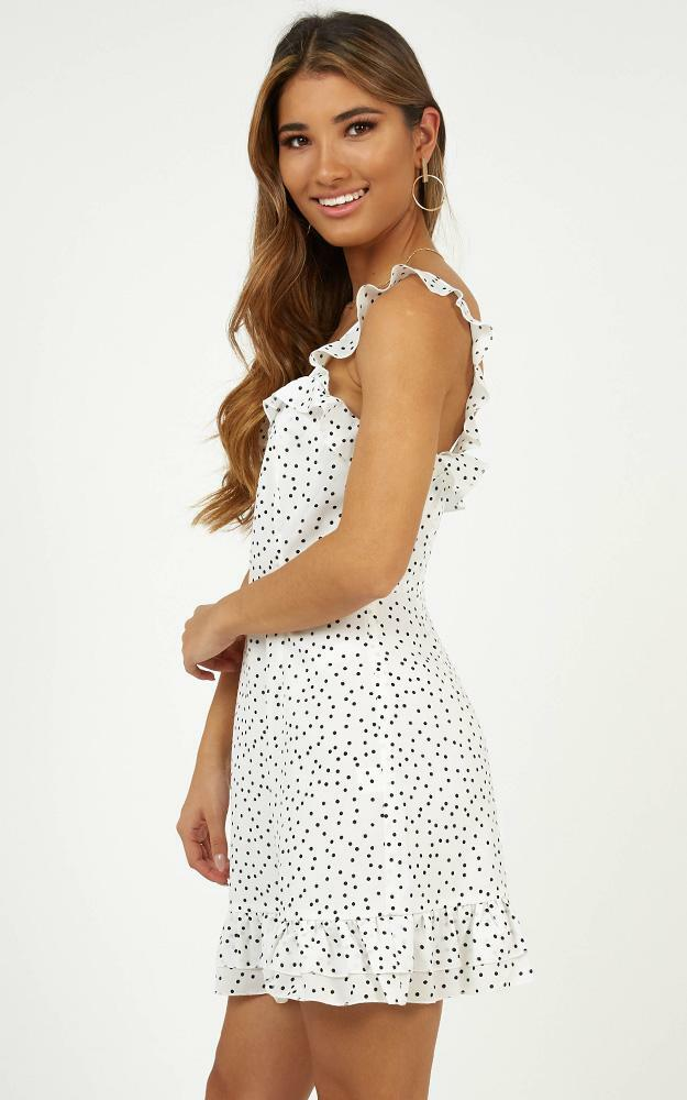 Imagination Galore dress in white spot, White, hi-res image number null