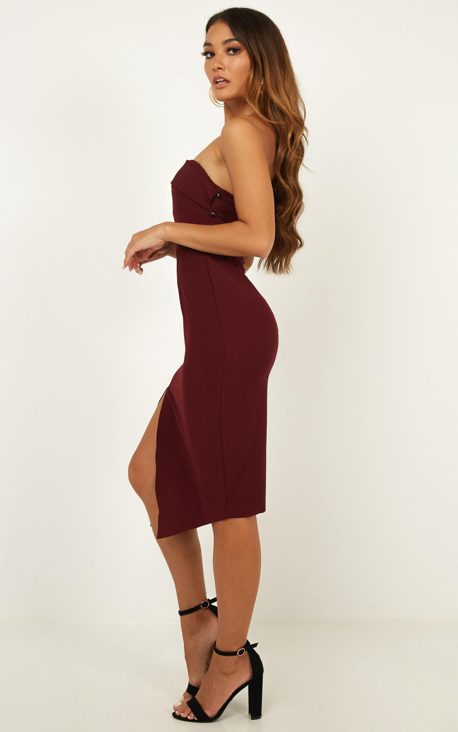 By Your Side dress in wine - 6 (XS), Wine, hi-res image number null