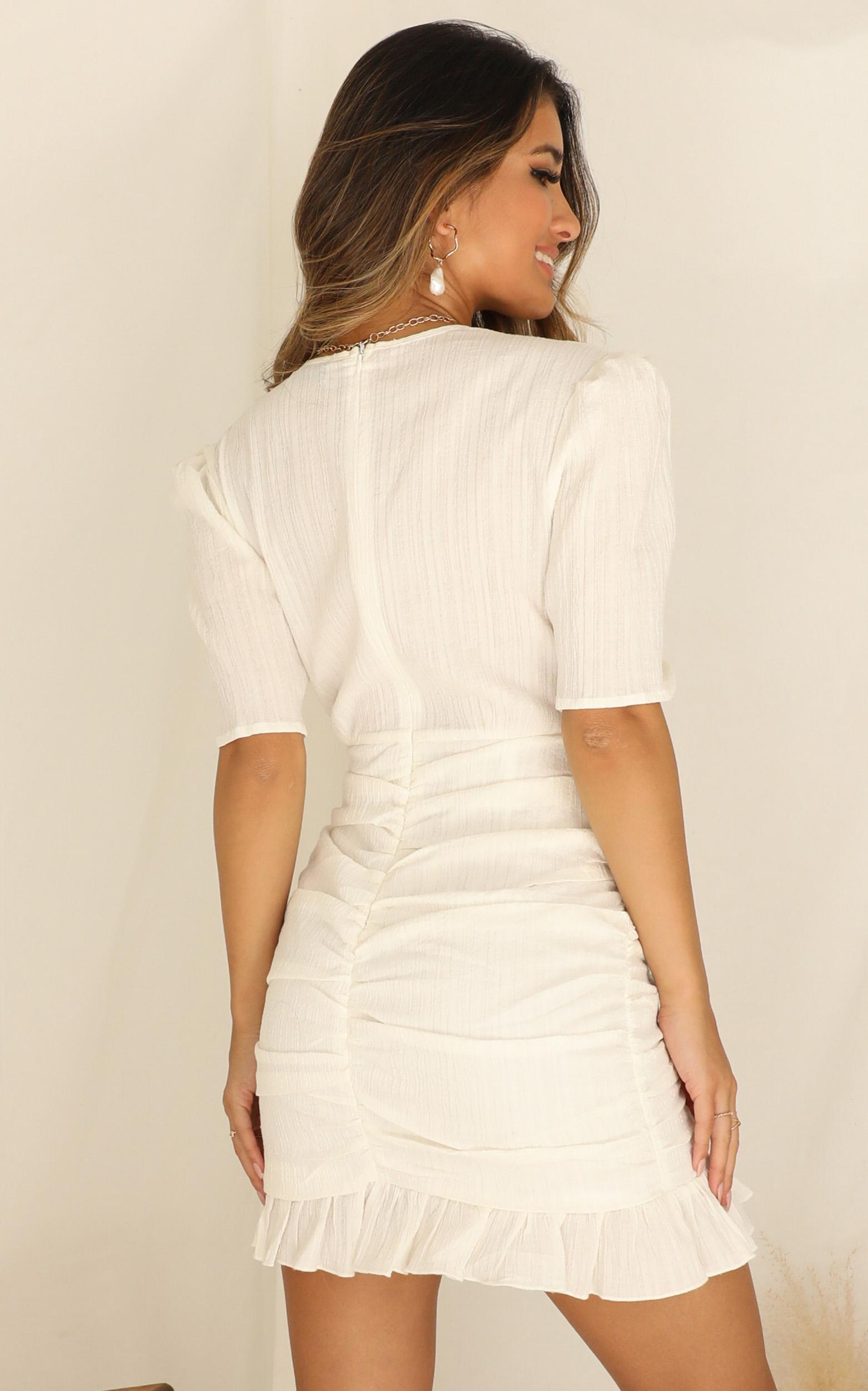 Lioness - Walking On Air Dress In White - 16 (XXL), White, hi-res image number null