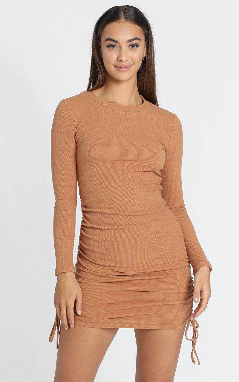 Siusan Dress in Tan - 6 (XS), Tan, hi-res image number null