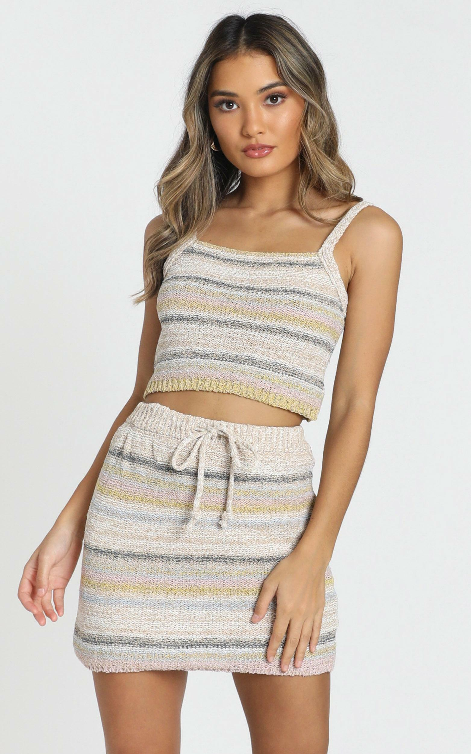 Forever Sunshine knit top in cream stripe - 16 (XXL), Cream, hi-res image number null