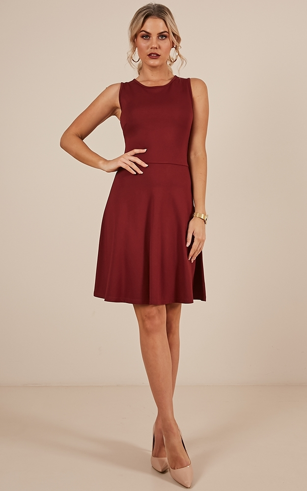 She Is A Keeper dress in wine - 12 (L), Wine, hi-res image number null