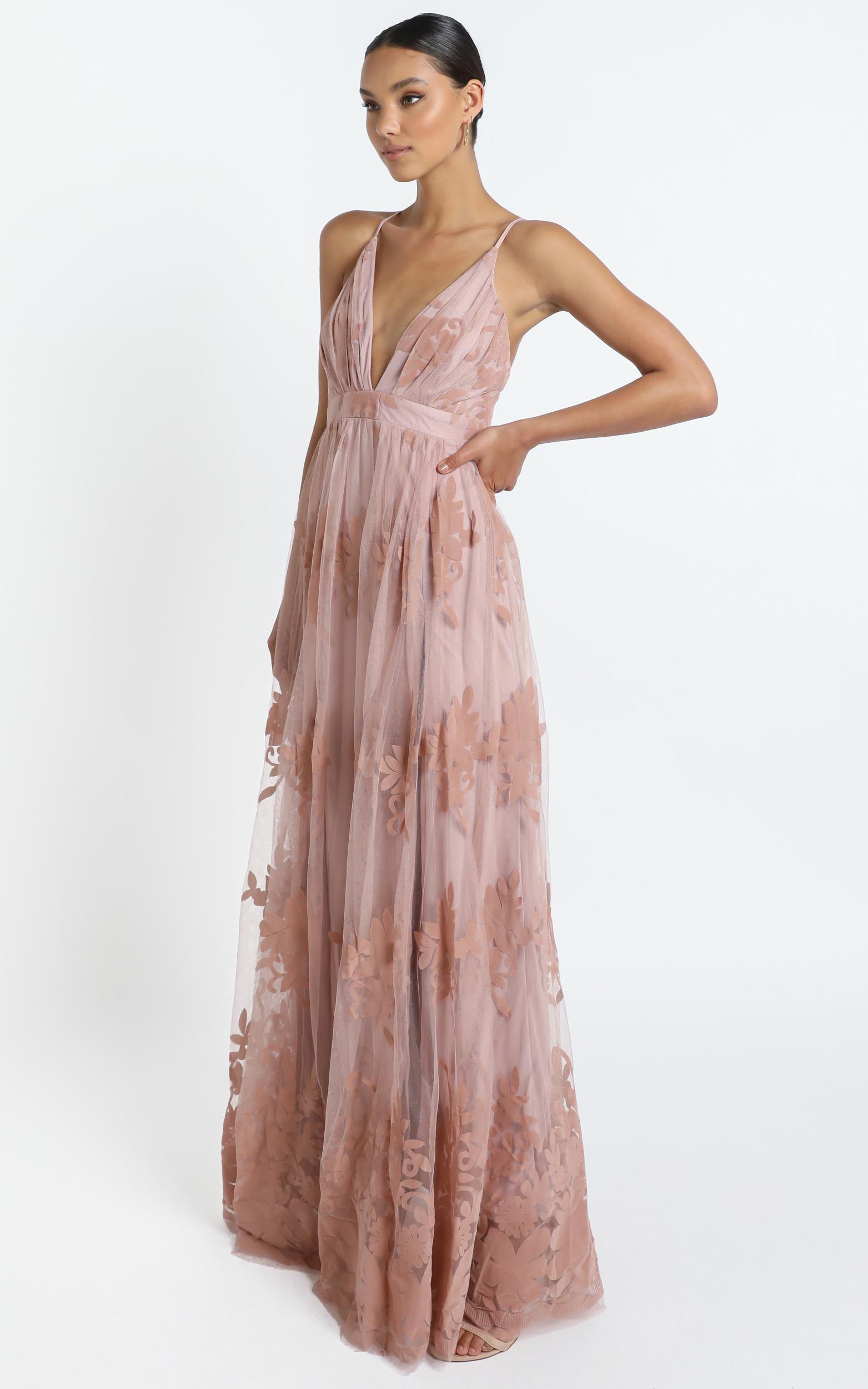 Promenade Maxi Dress In Blush - 16 (XXL), Blush, hi-res image number null
