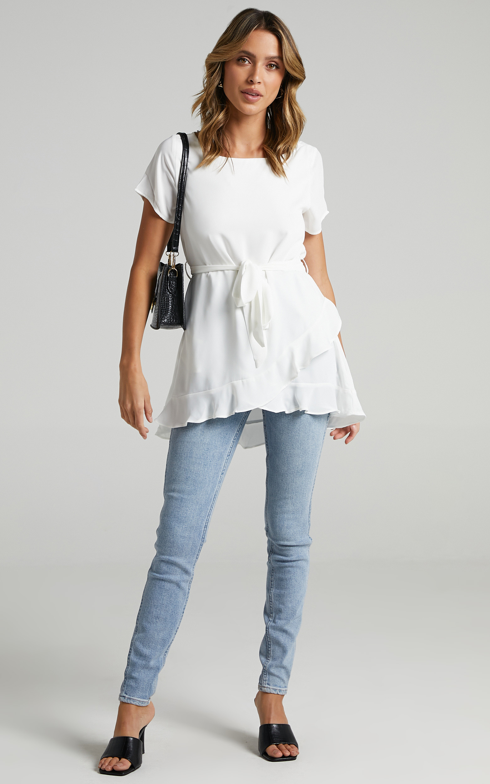 Work Something Out top in White - 16, WHT1, hi-res image number null