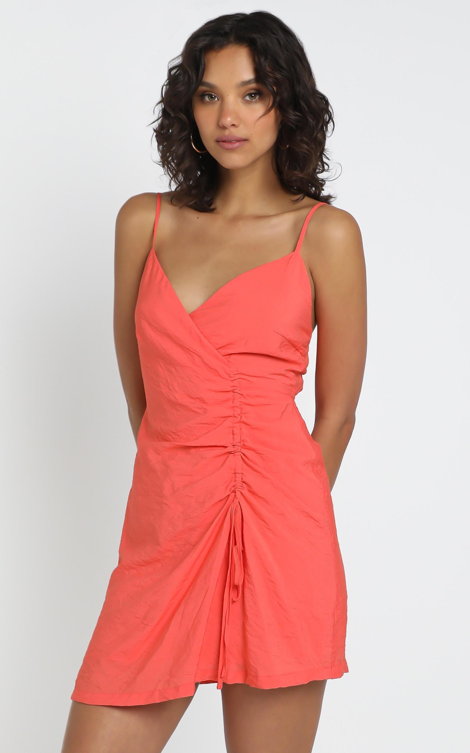 Kimmy Dress in coral - 8 (S), Orange, hi-res image number null