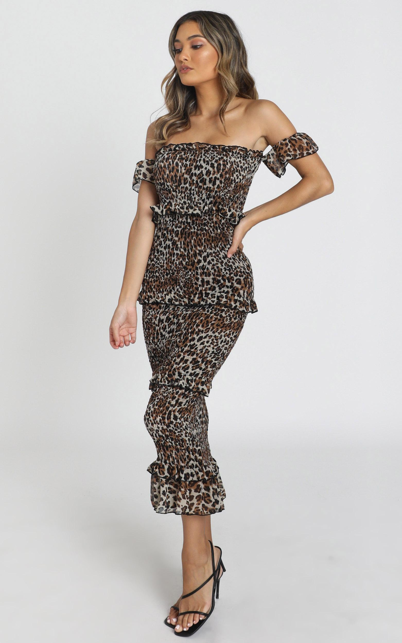 Irma Dress in leopard - 8 (S), Brown, hi-res image number null