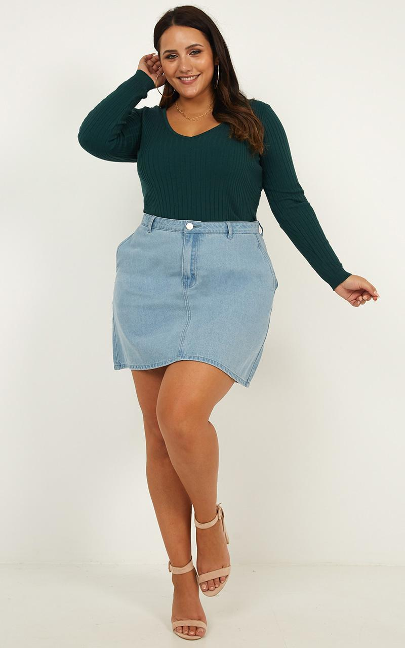 Lovely Love Knit Top in forest green - 16 (XXL), Green, hi-res image number null